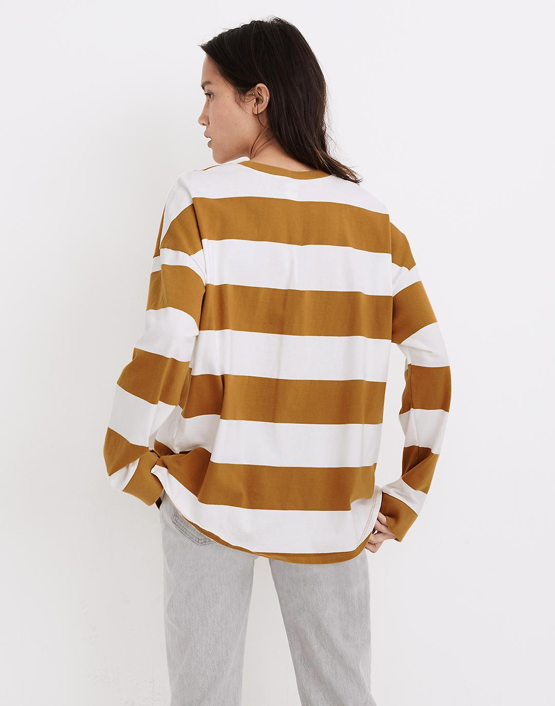 (Re)sourced Cotton Newville Tee in Lindell Stripe 2