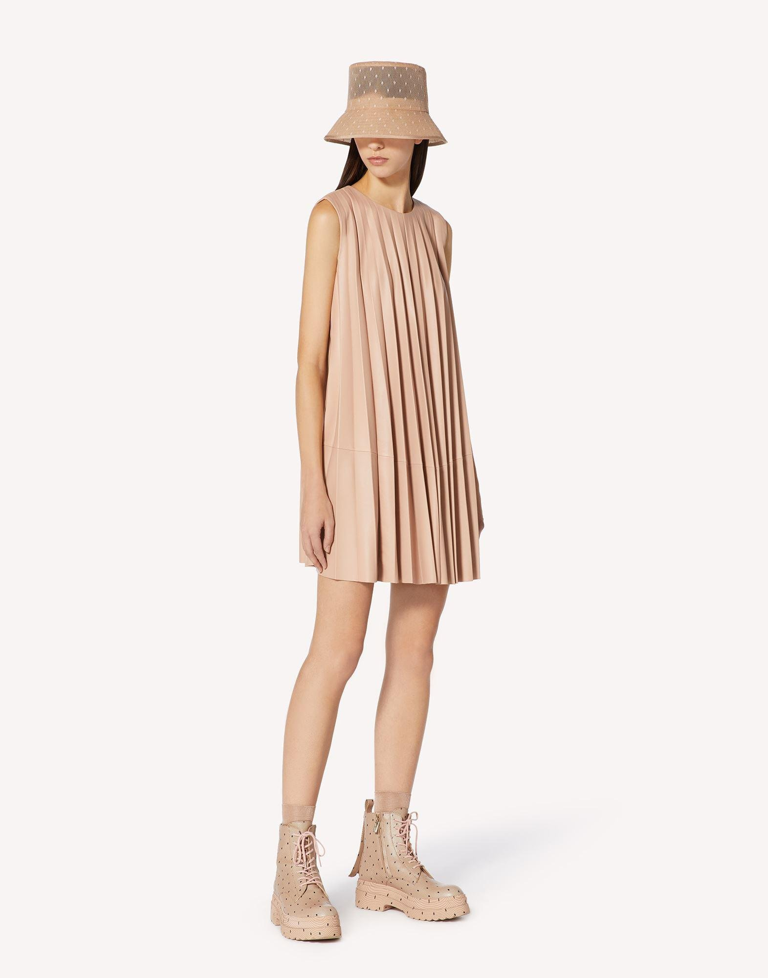 PLEATED LEATHER DRESS 2