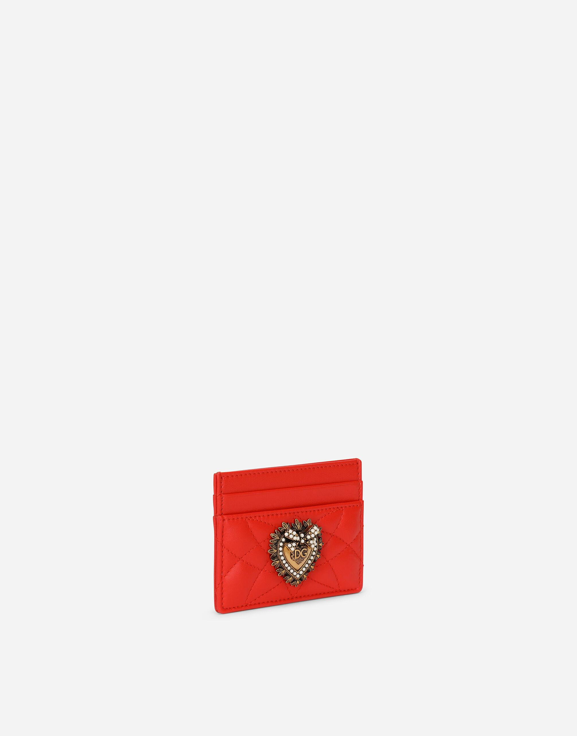 Devotion card holder in quilted nappa leather 1