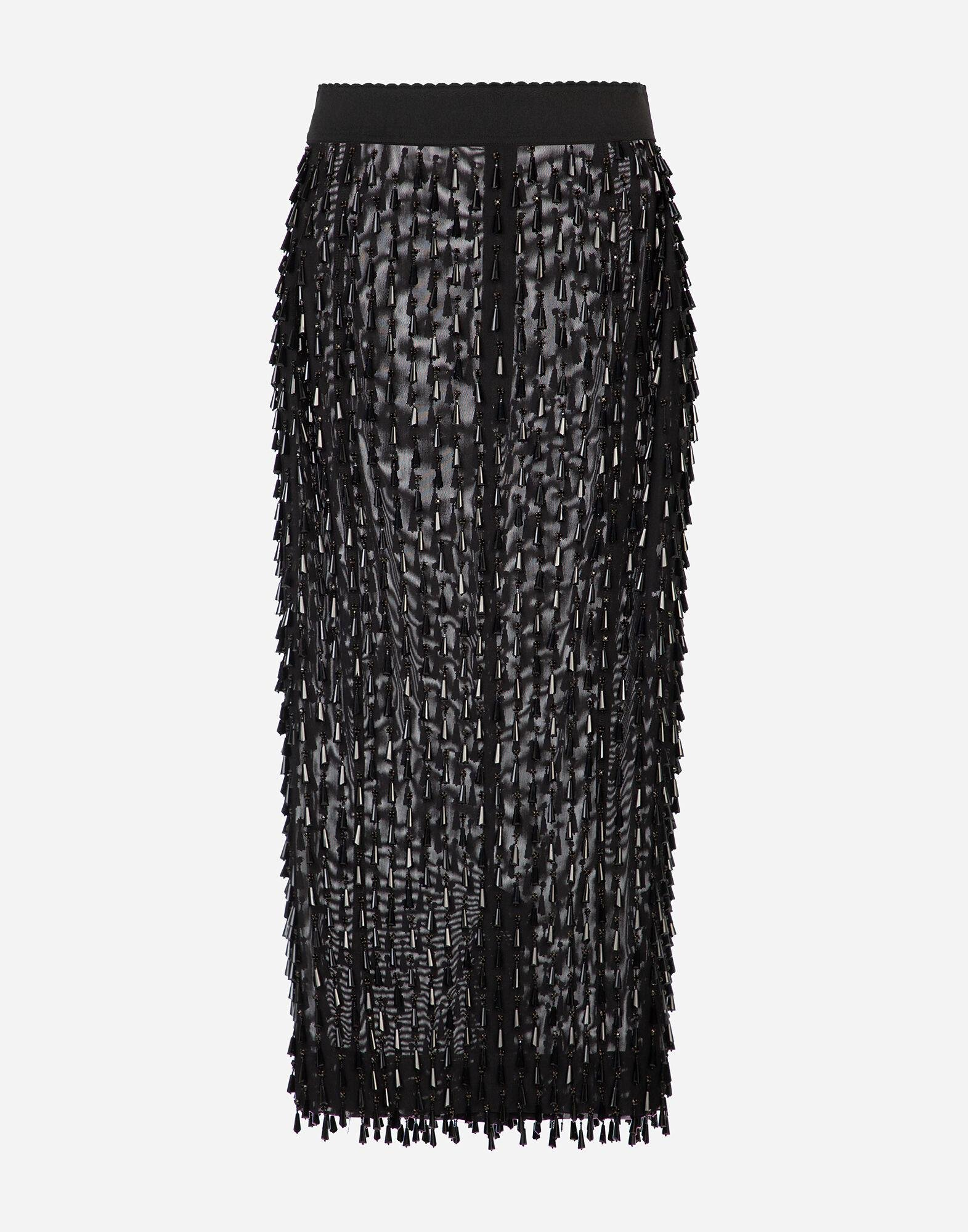 Embroidered pencil skirt 4
