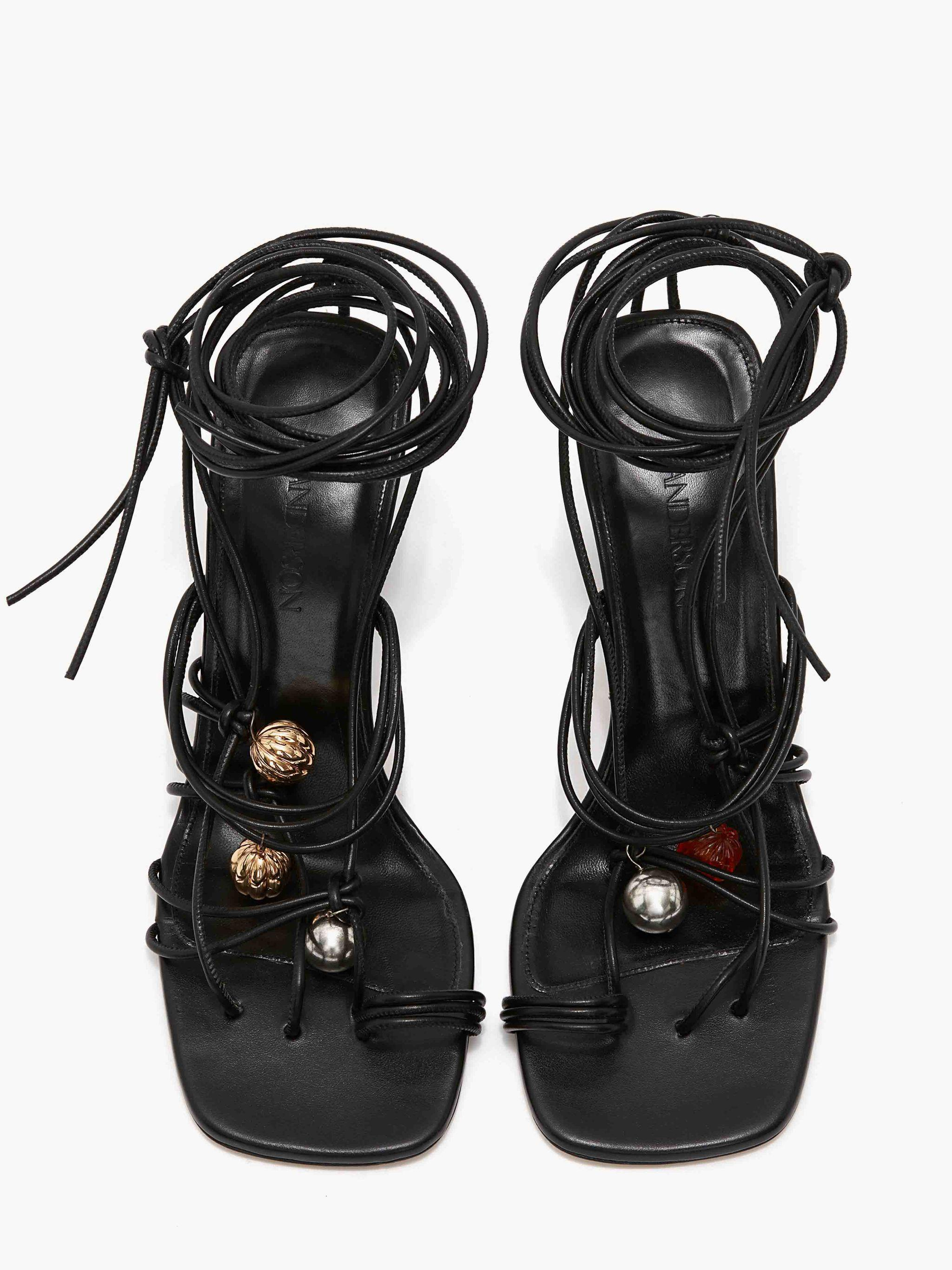 WOMEN'S OPEN LACED HEEL WITH BEADS 3