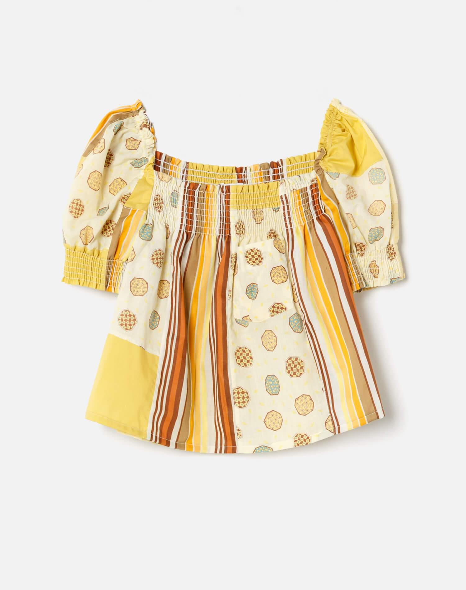 70s Upcycled Babydoll Top 0