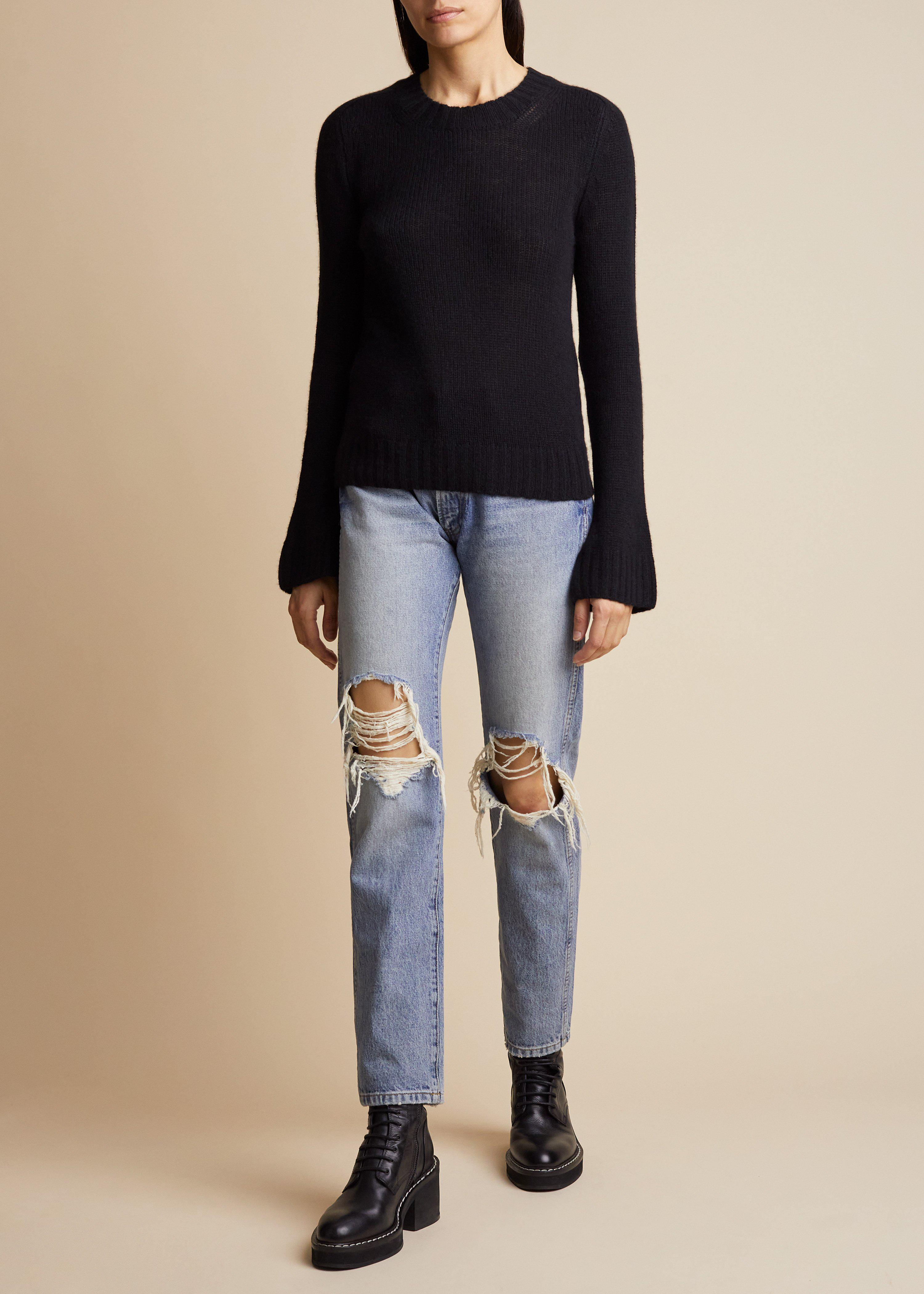 The Mary Jane Sweater in Black 1