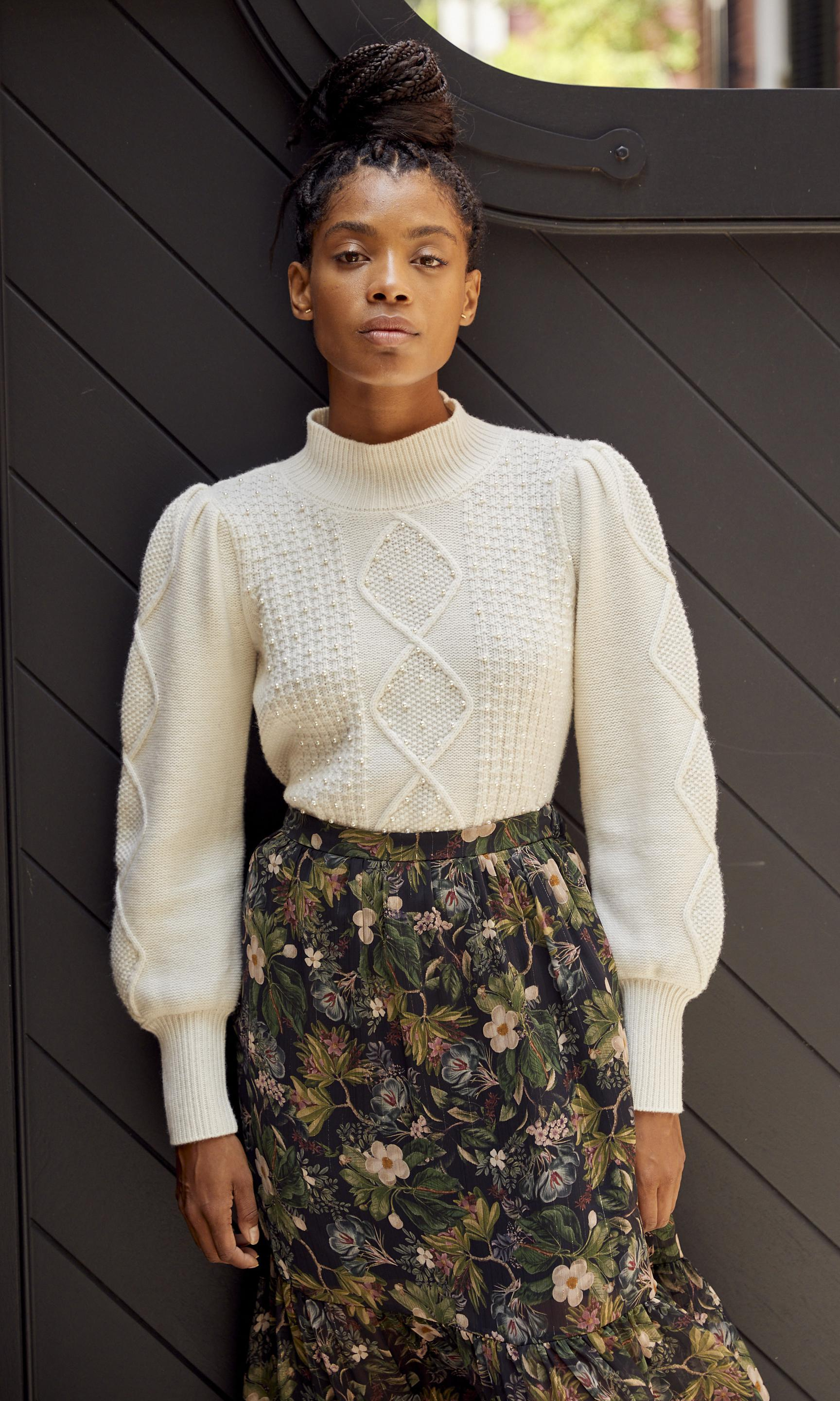 Aspen Pearl Cable Sweater 5