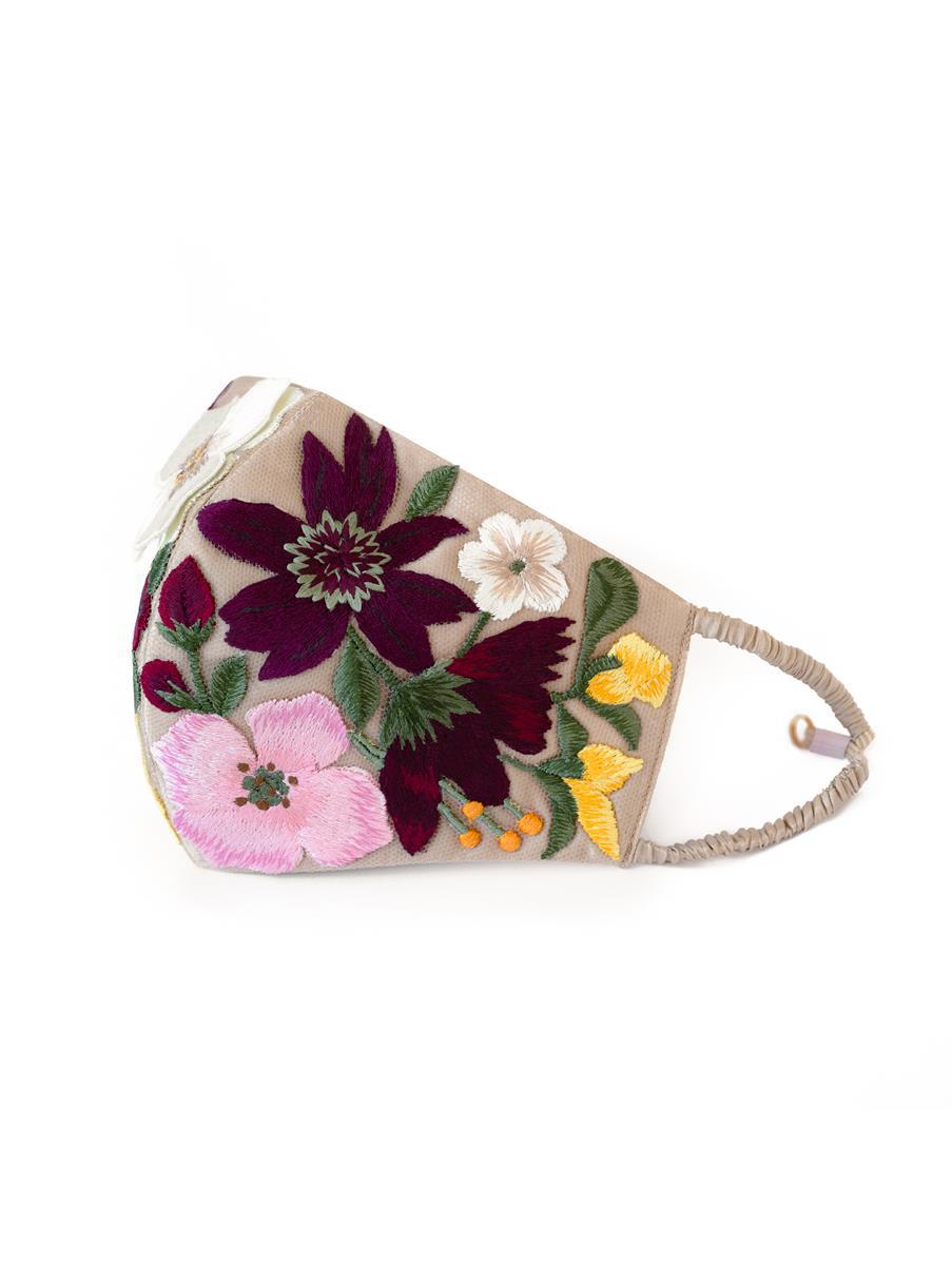 FLORAL EMBROIDERED MASK