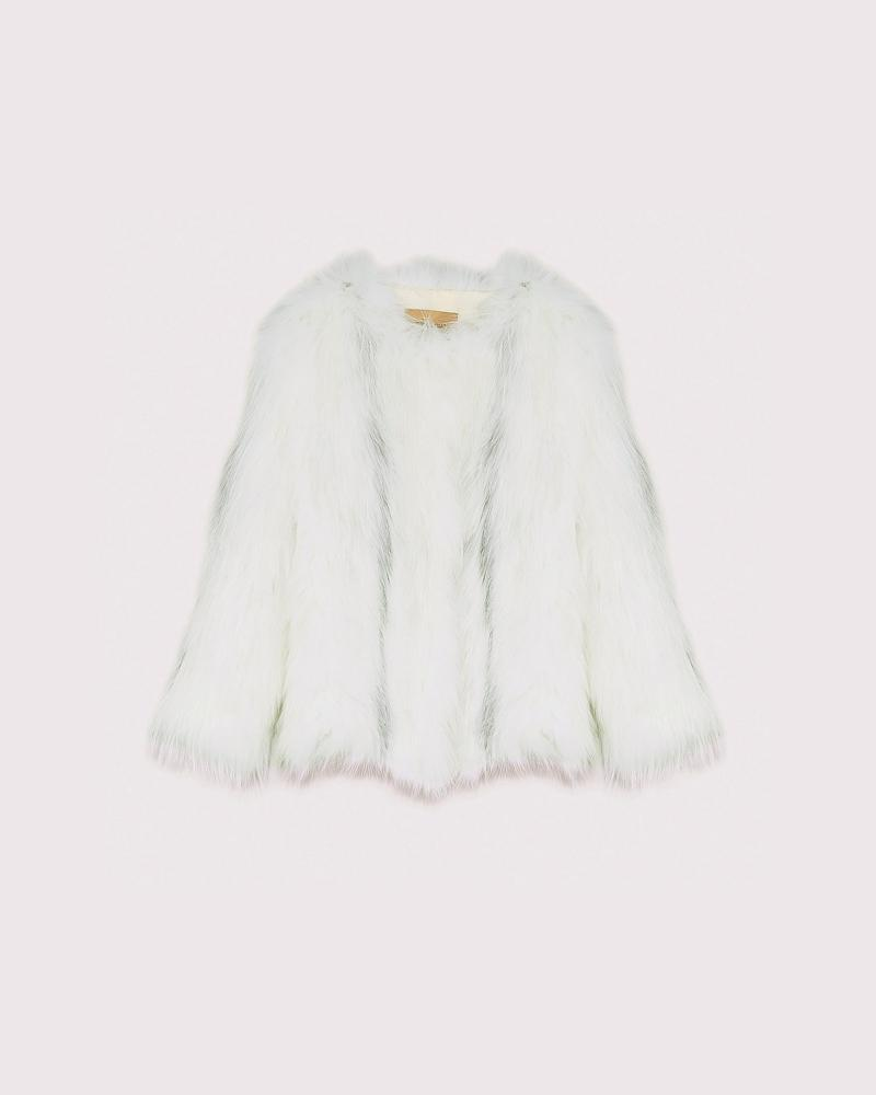 knitted arctic marble fox jacket 4