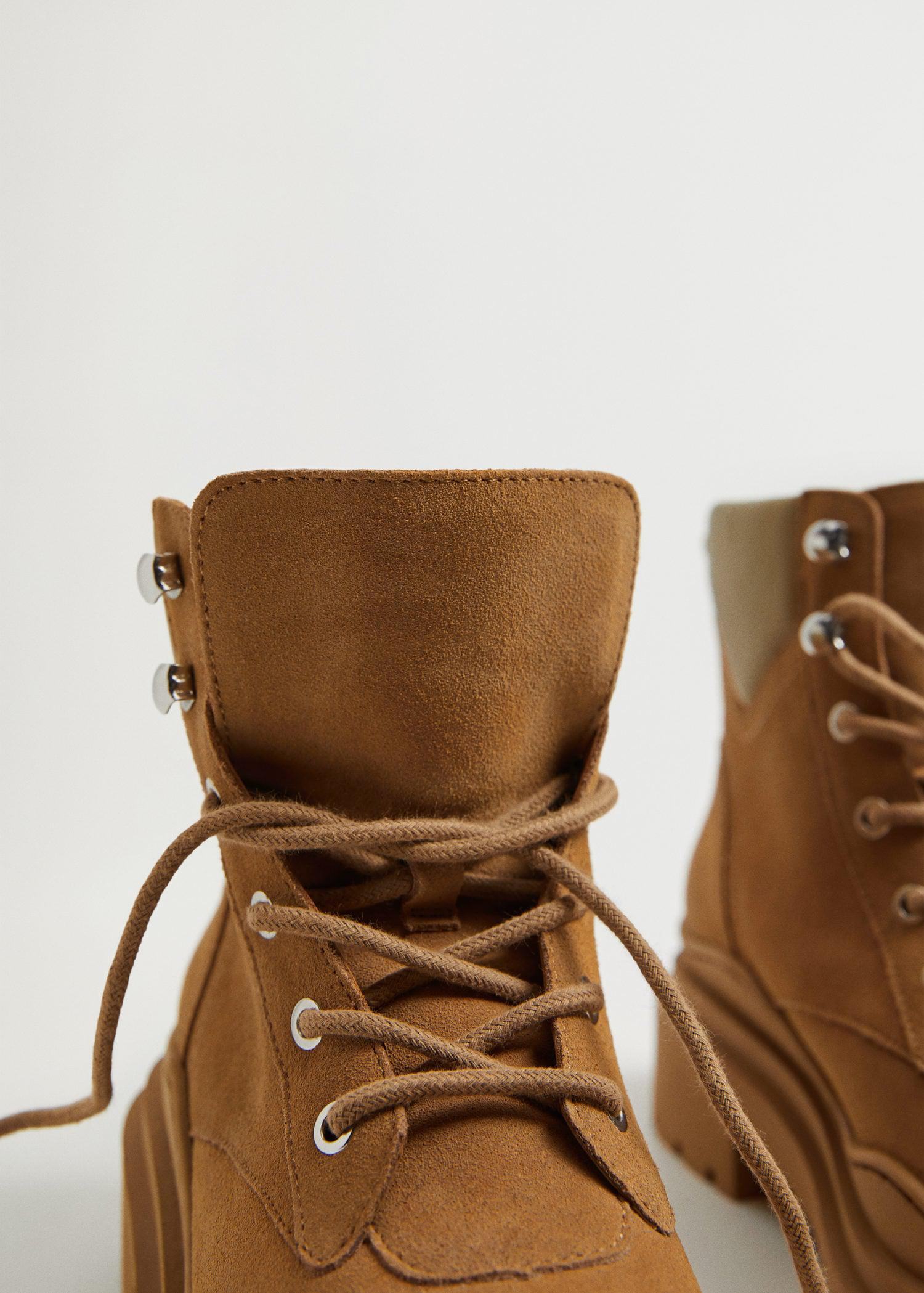 Lace-up track sole boots 3