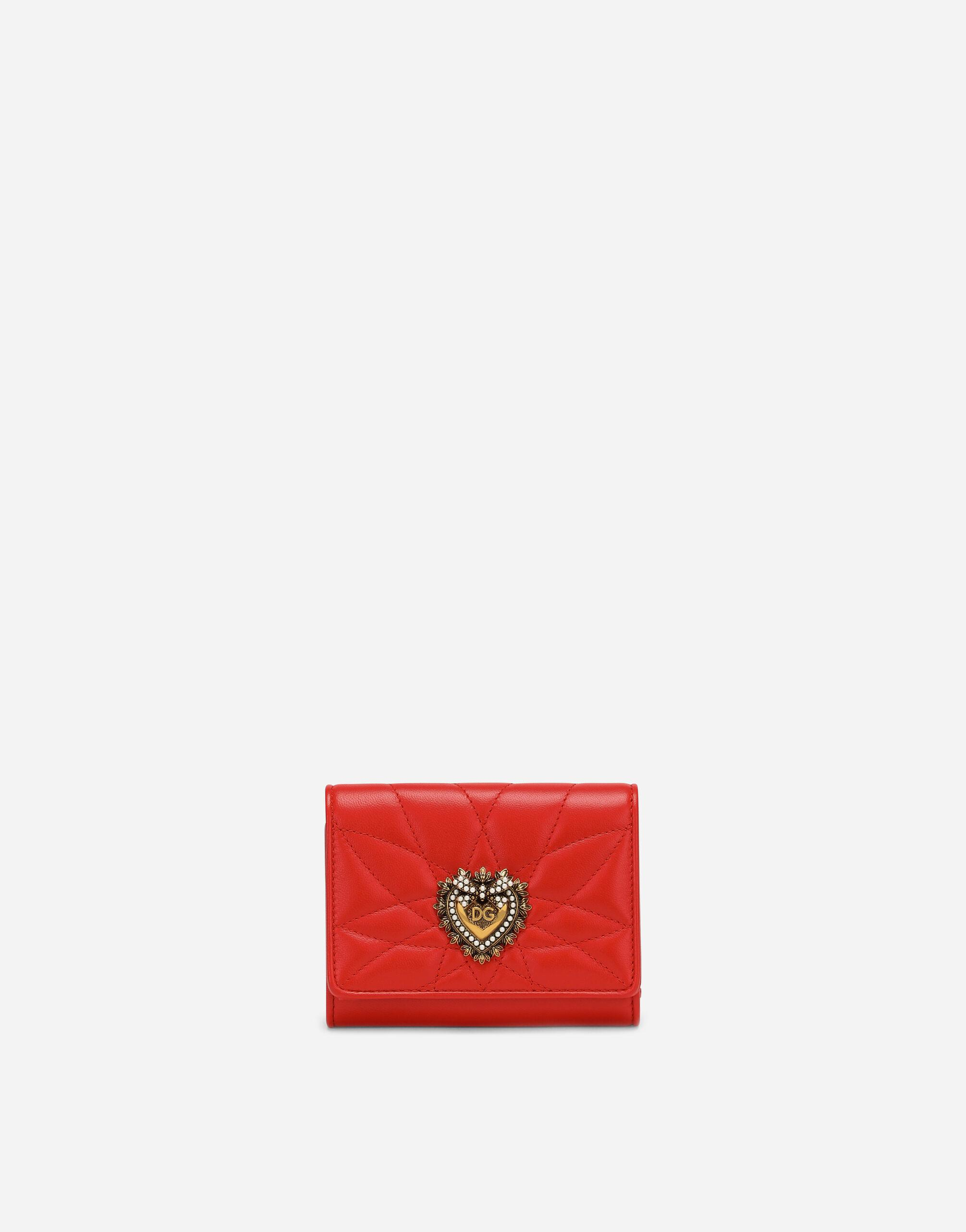 Small continental Devotion wallet in quilted nappa leather