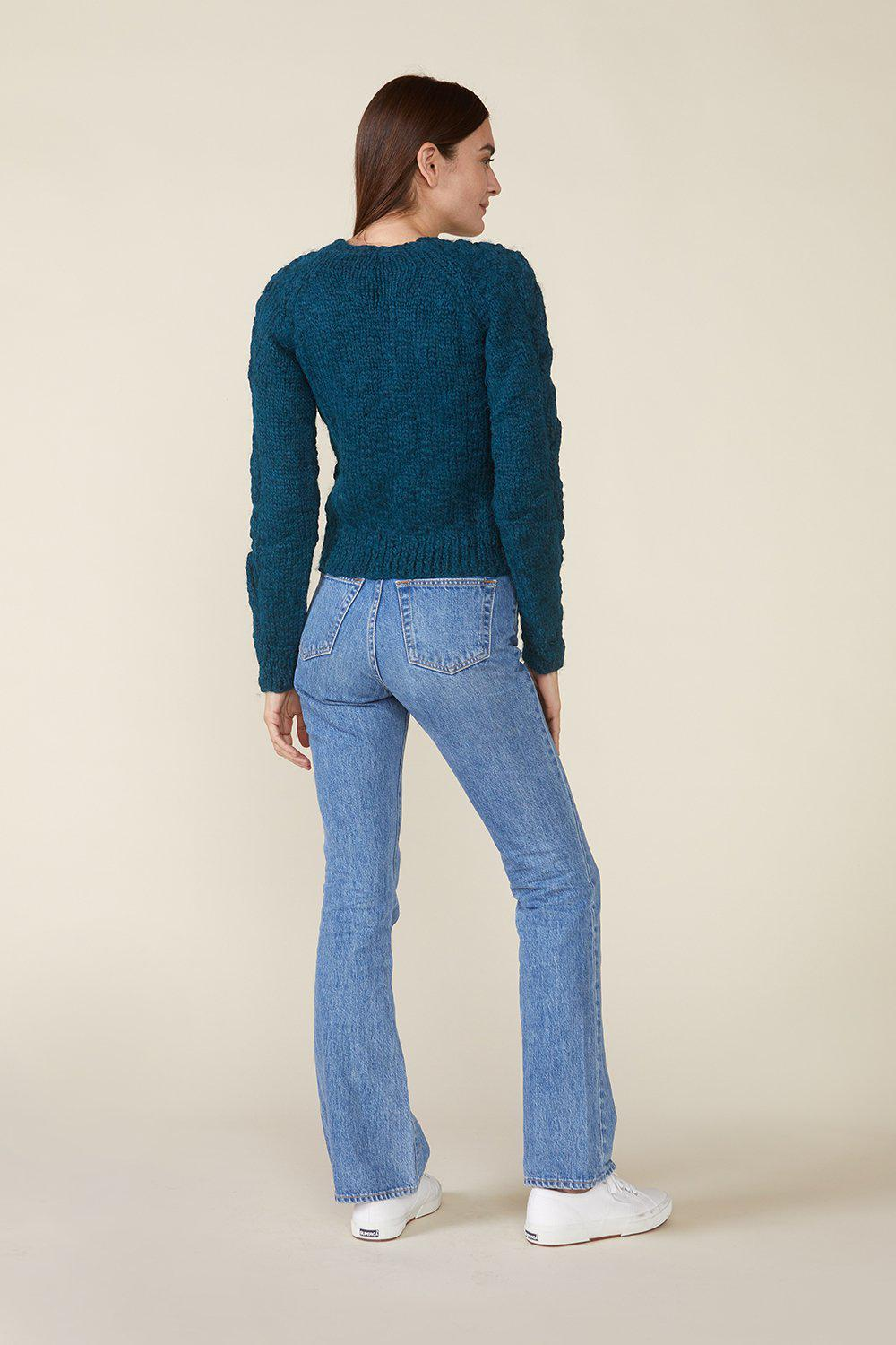 OSSIE SWEATER, TEAL 4