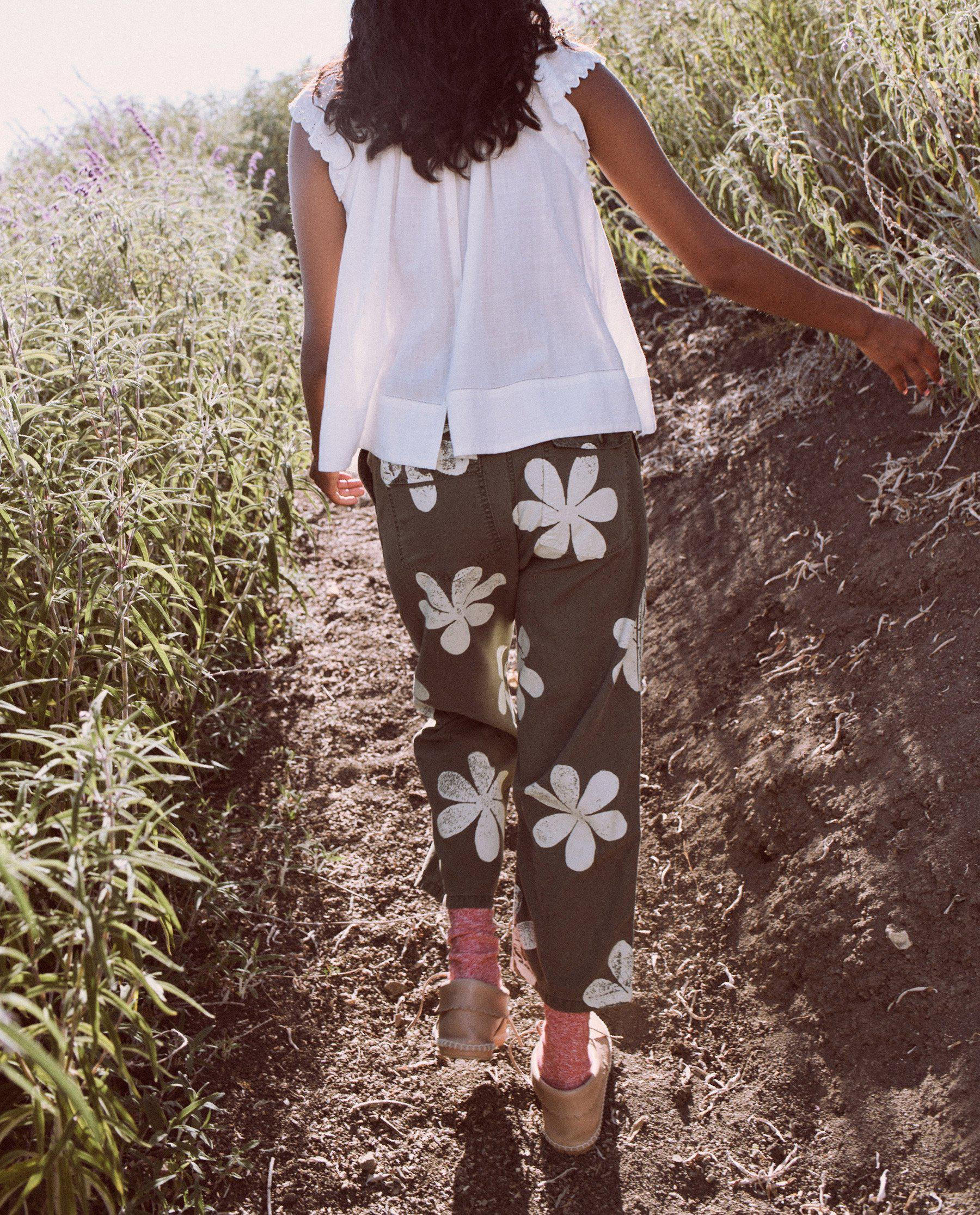 The Vintage Army Pant. -- Army with Daisy Stamp 2