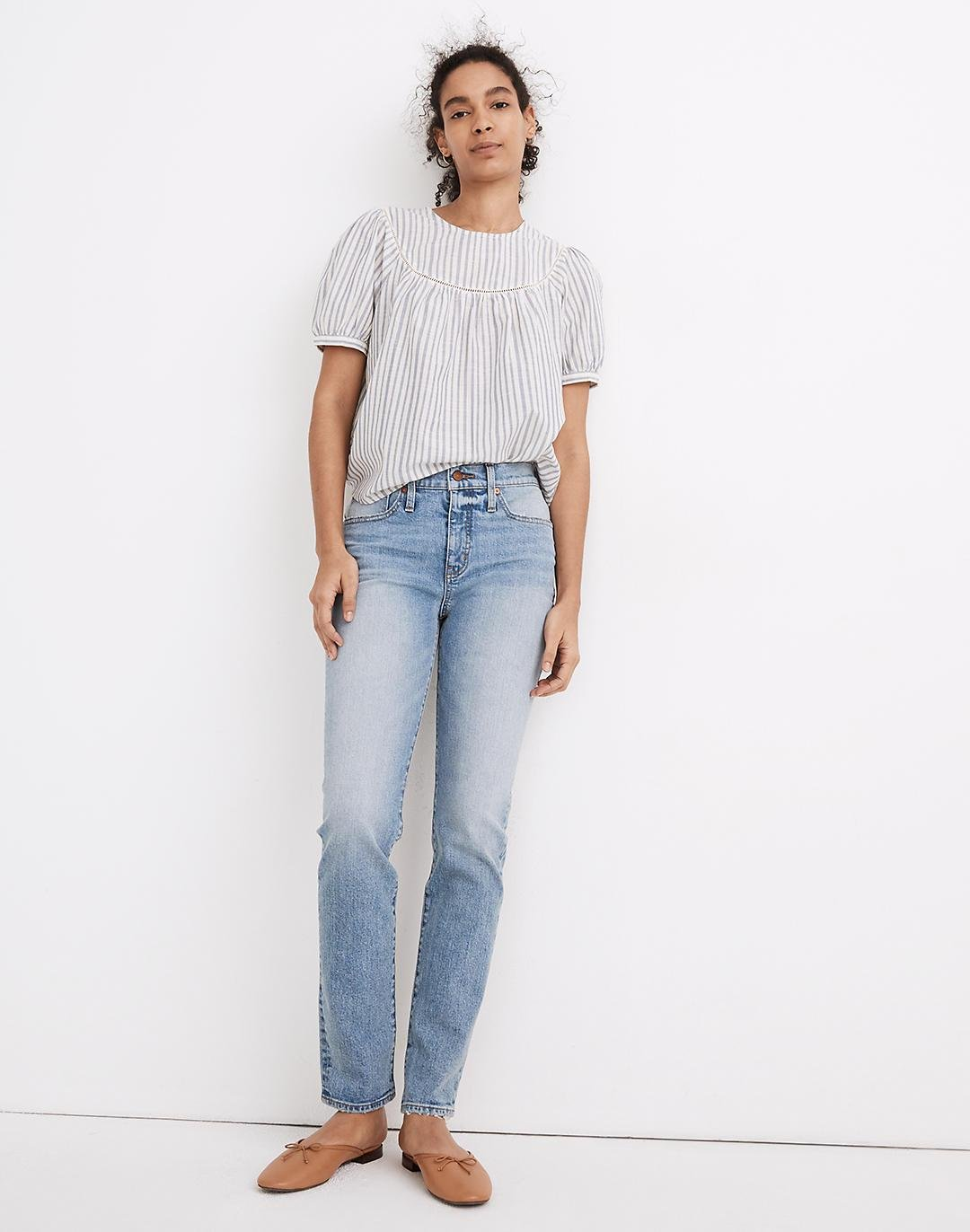 Tomboy Straight Jeans in Glover Wash