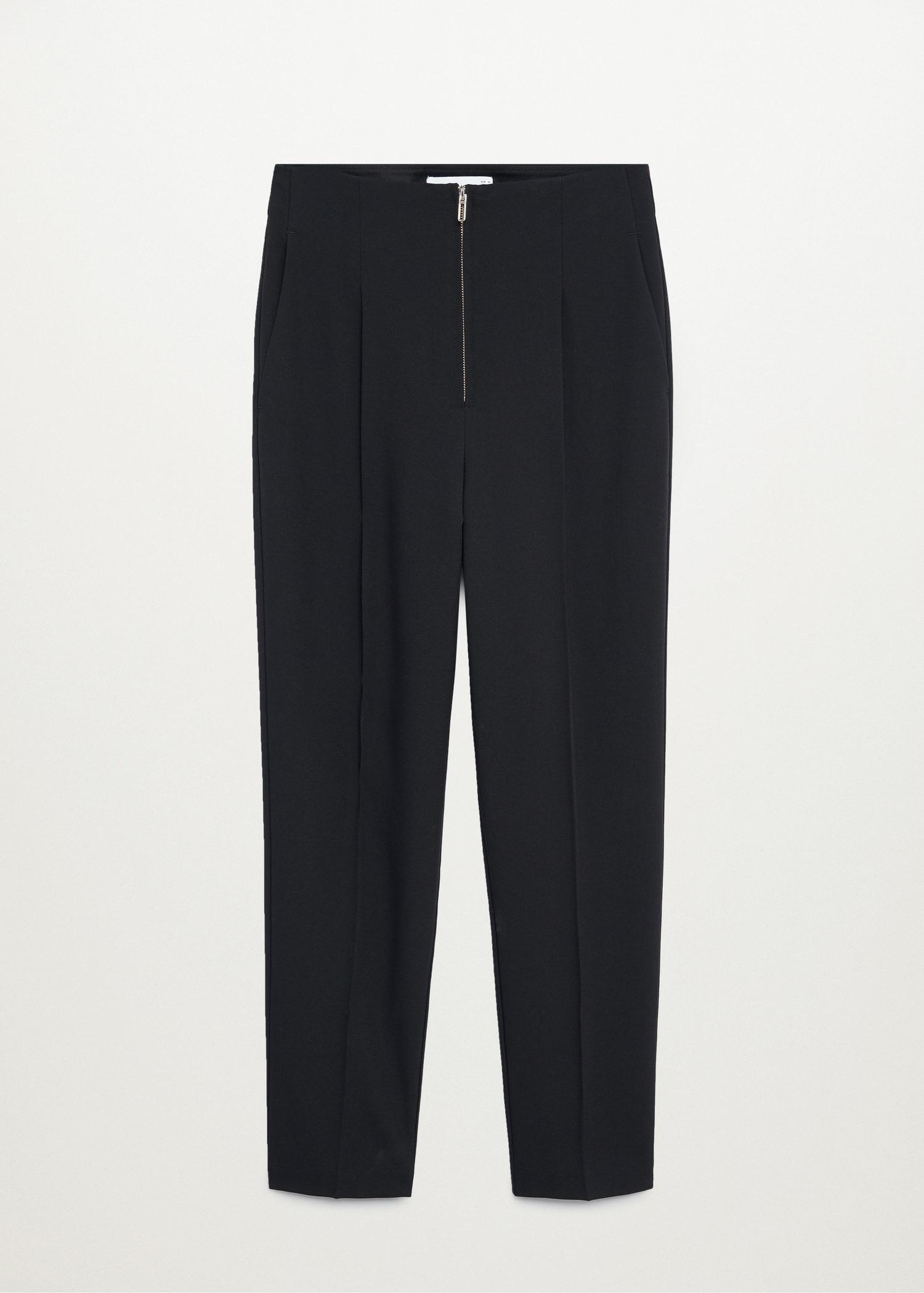 Pleated pants with zip 6