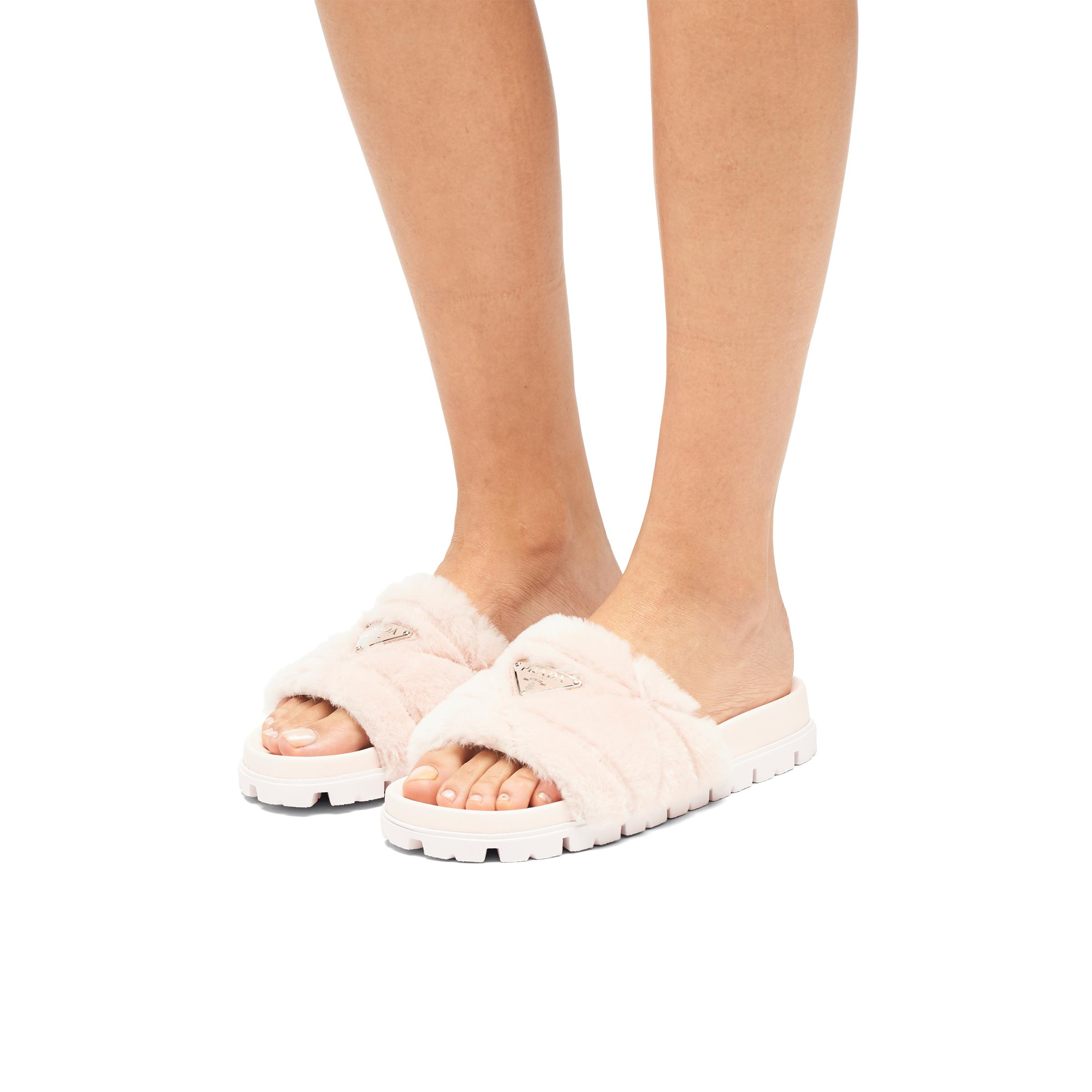 Shearling Slides Women Orchid Pink 4