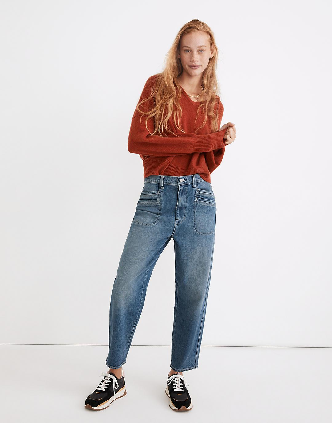 Rivet & Thread High-Rise Relaxed Straight Jeans in Paladino Wash
