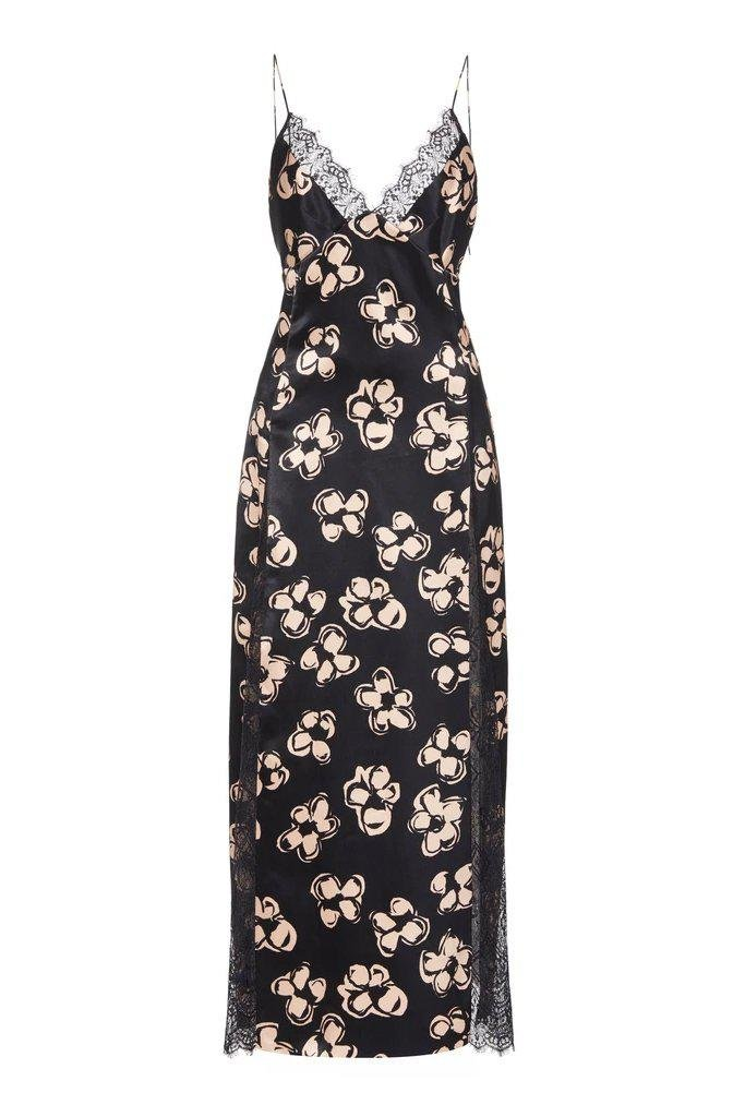Slip Dress with Lace Inlay 1