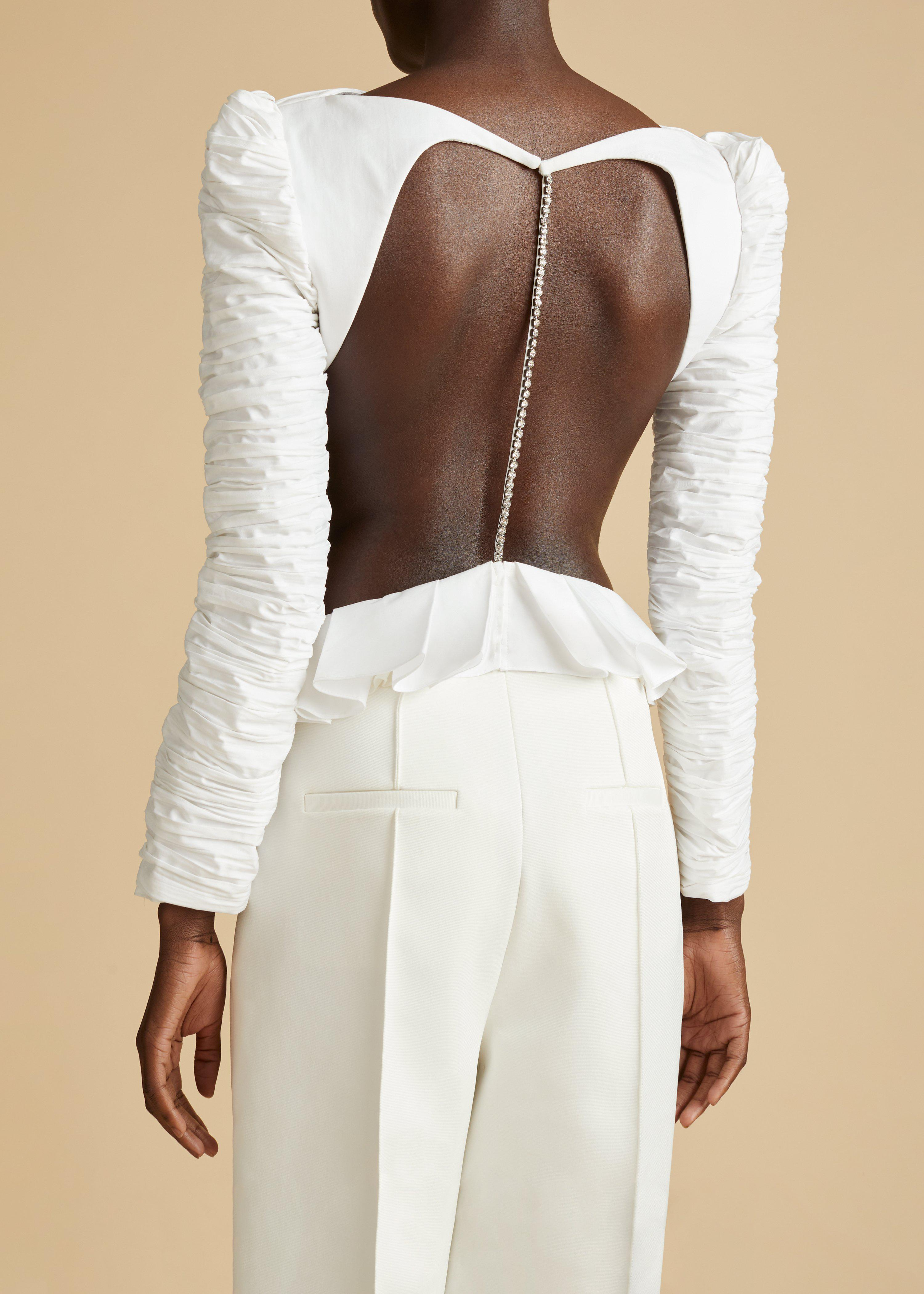 The Rosy Top in White 2