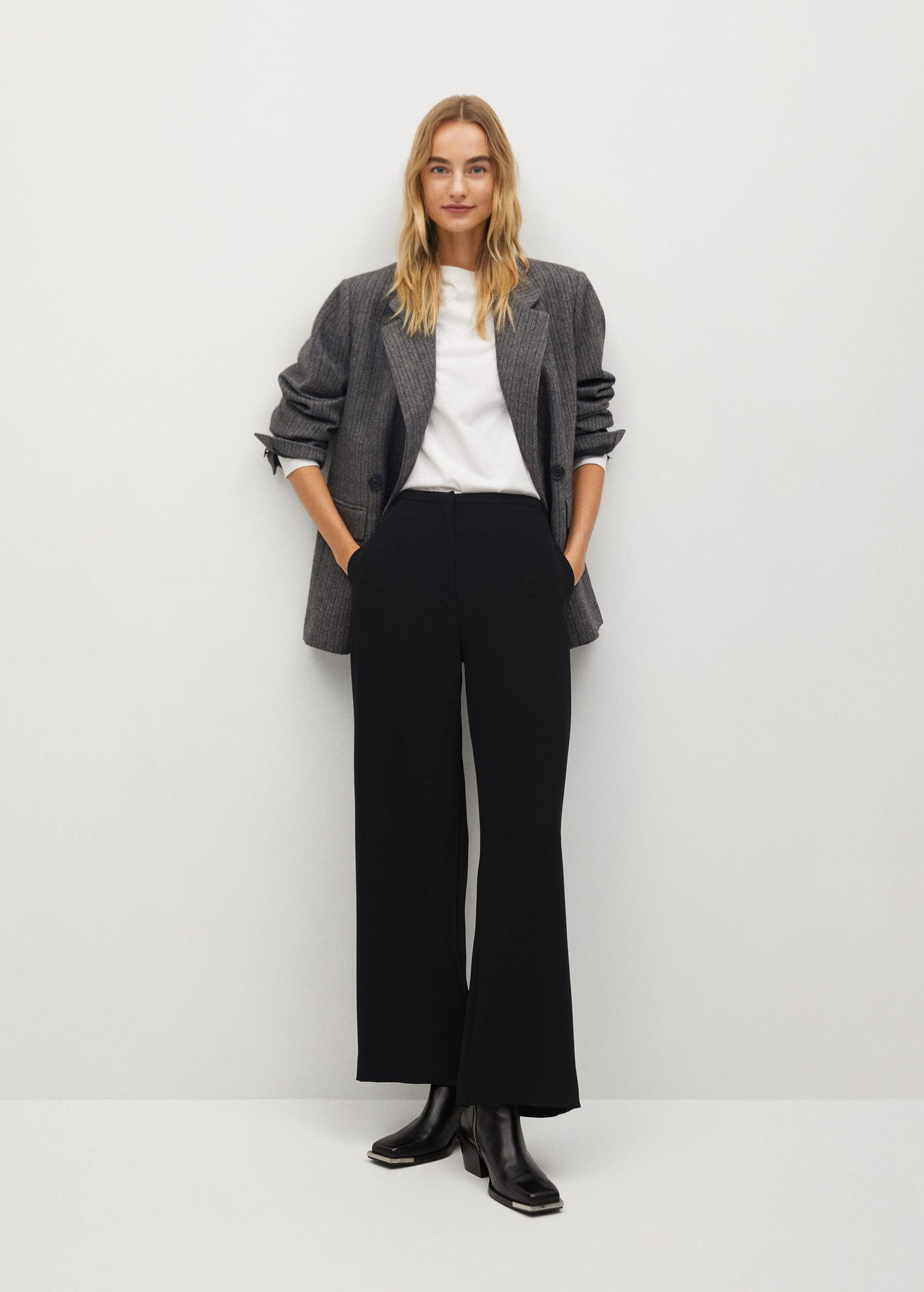 Flowy straight-fit pants