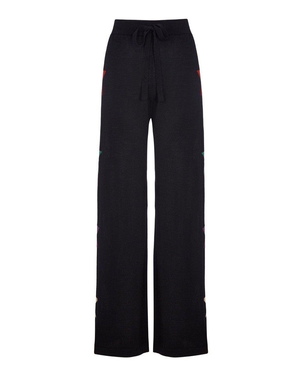Star Knit Wide Track Pant Long 1
