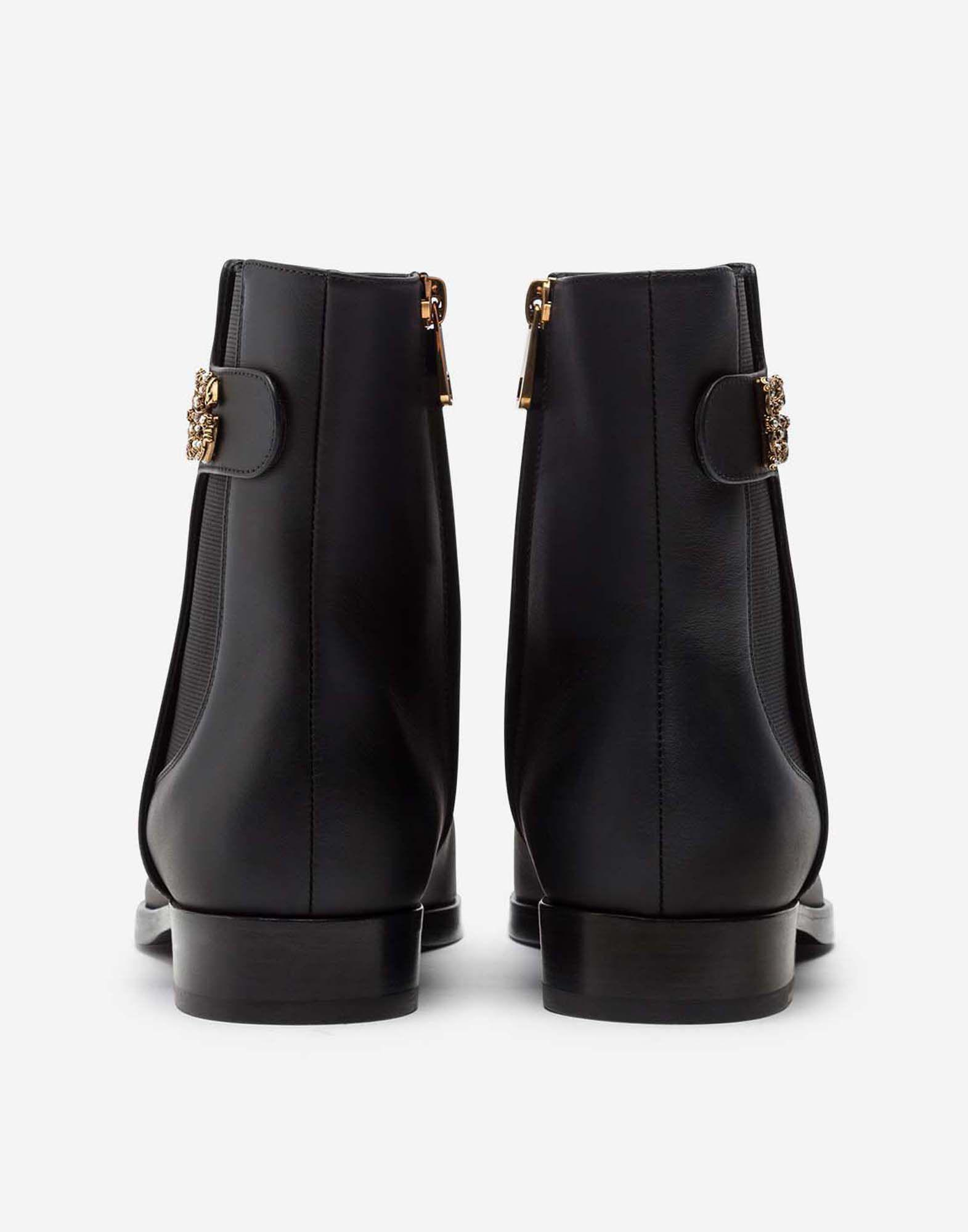 Calfskin nappa chelsea boots with DG logo 2