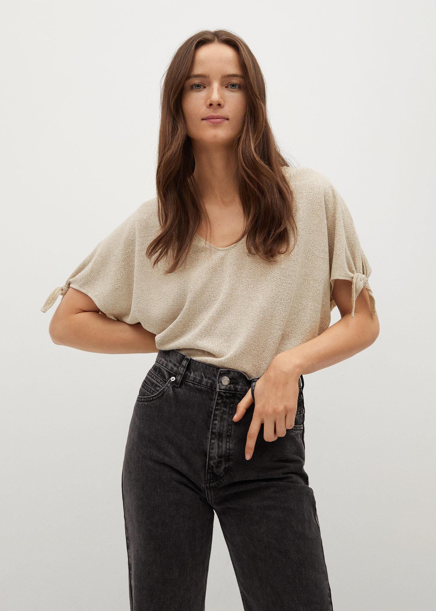 Knotted jersey T-shirt