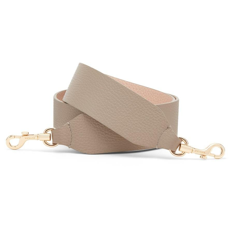 Women's Wide Strap in Stone/Blush Pink | Pebbled Leather by Cuyana