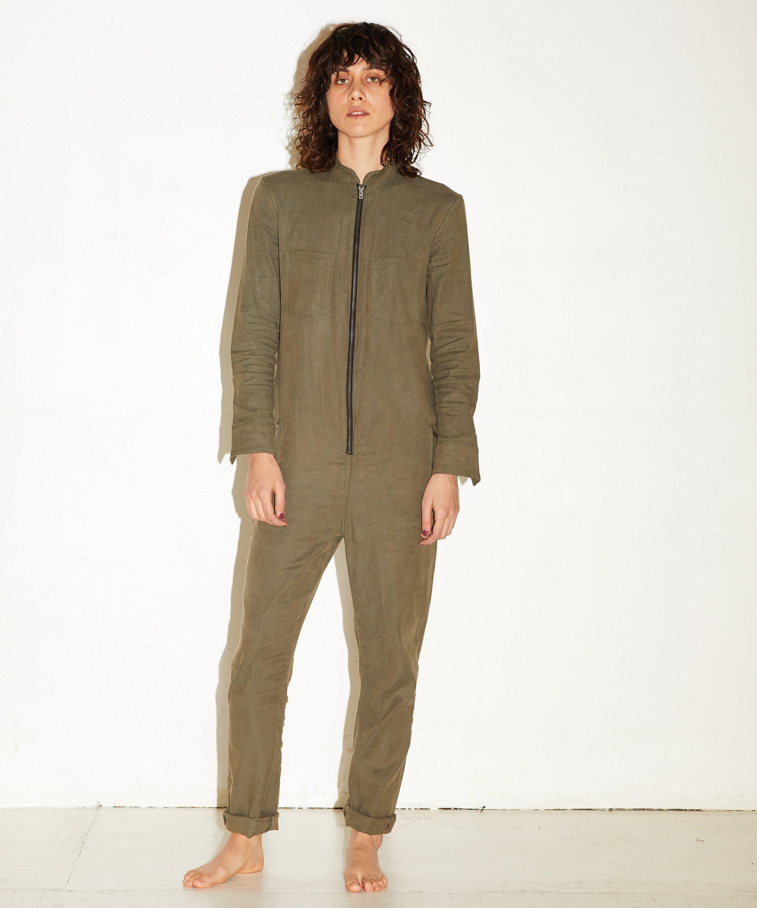 LONG SLEEVE JUMPSUIT- Army