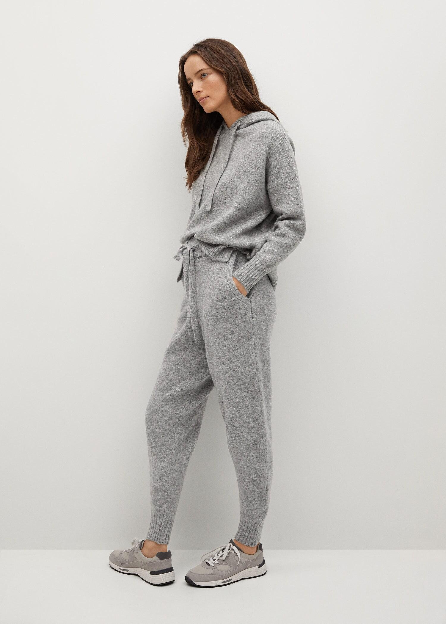 Knit jogger-style trousers 4