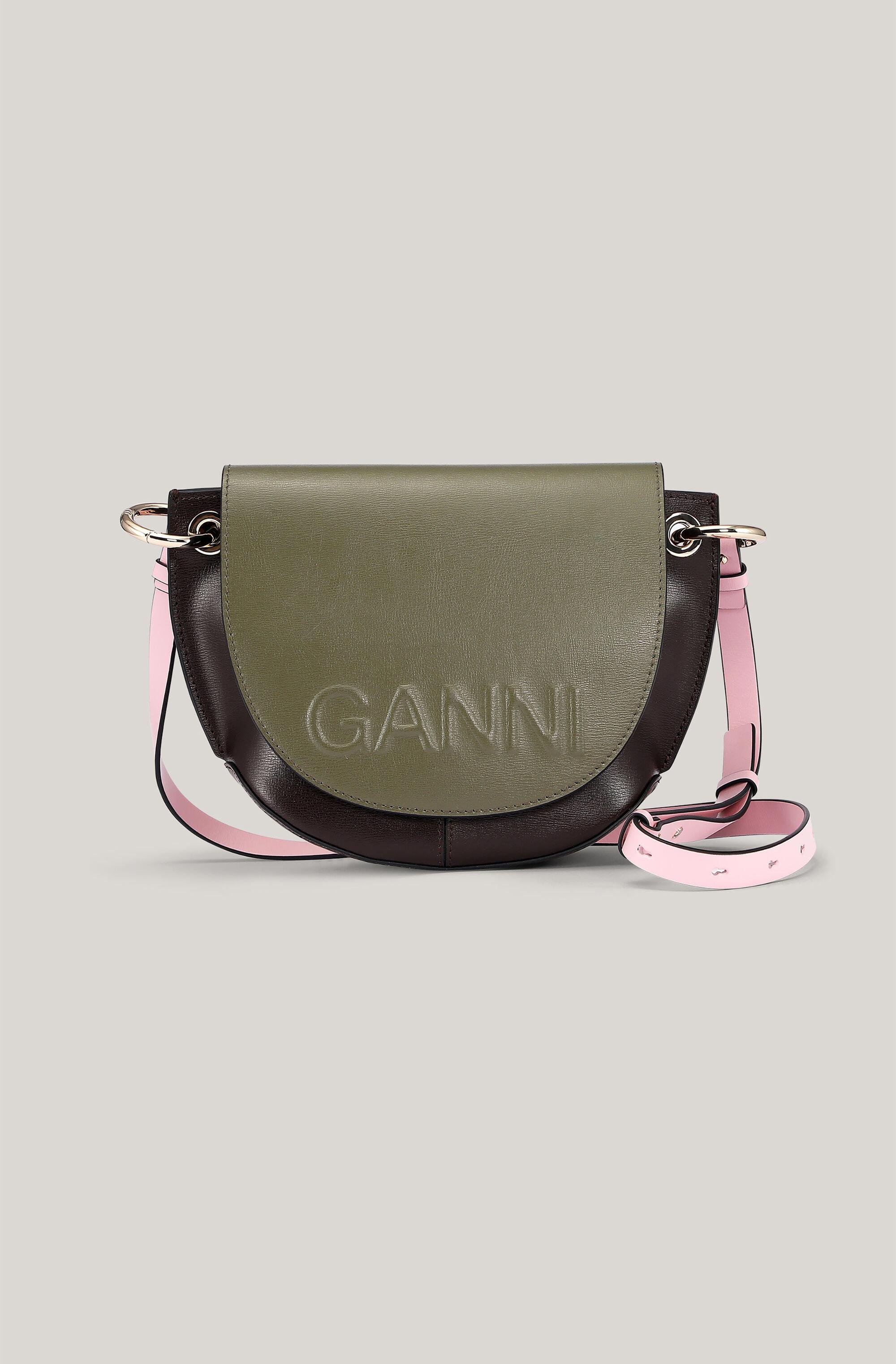 Recycled Leather Saddle Bag