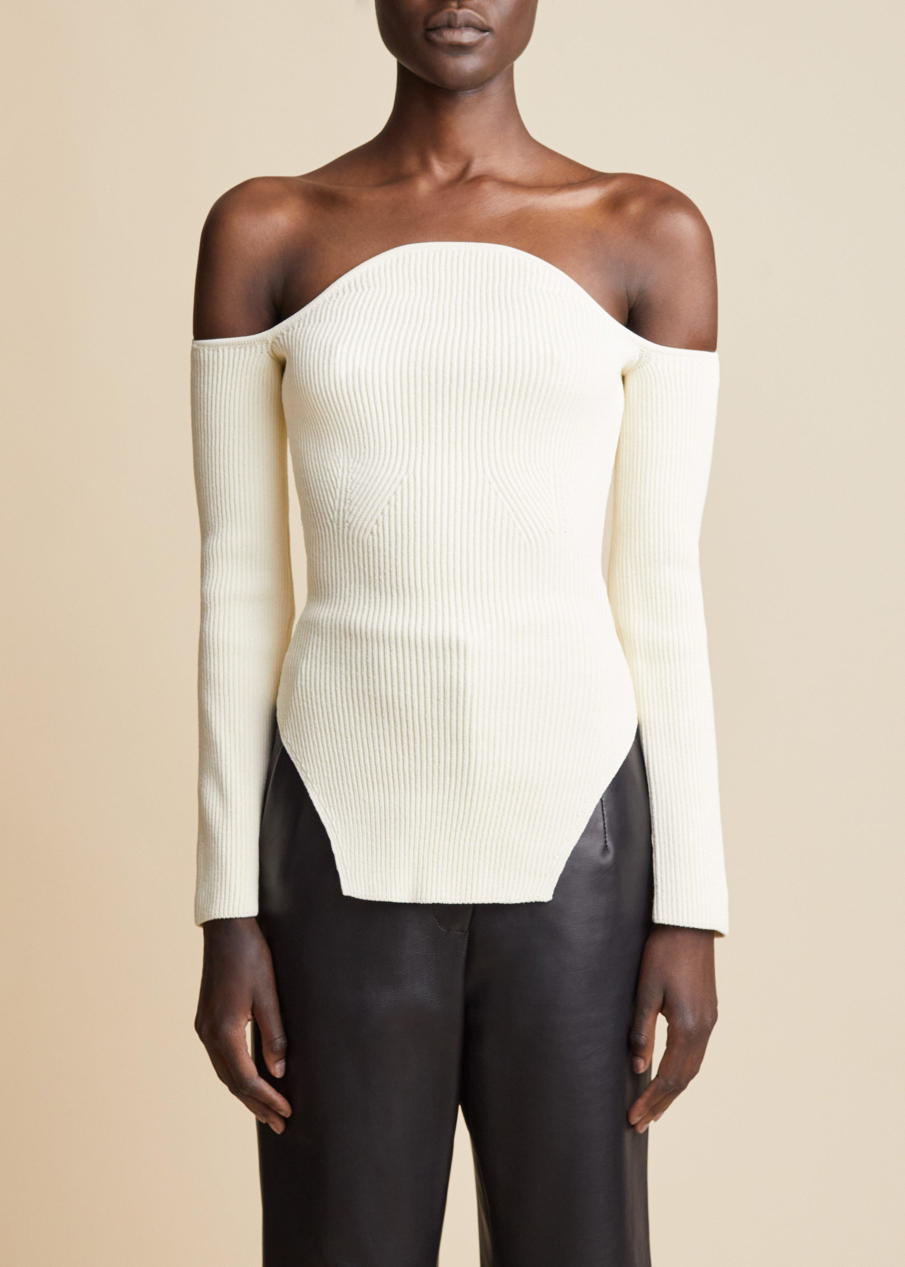The Maria Top in Ivory