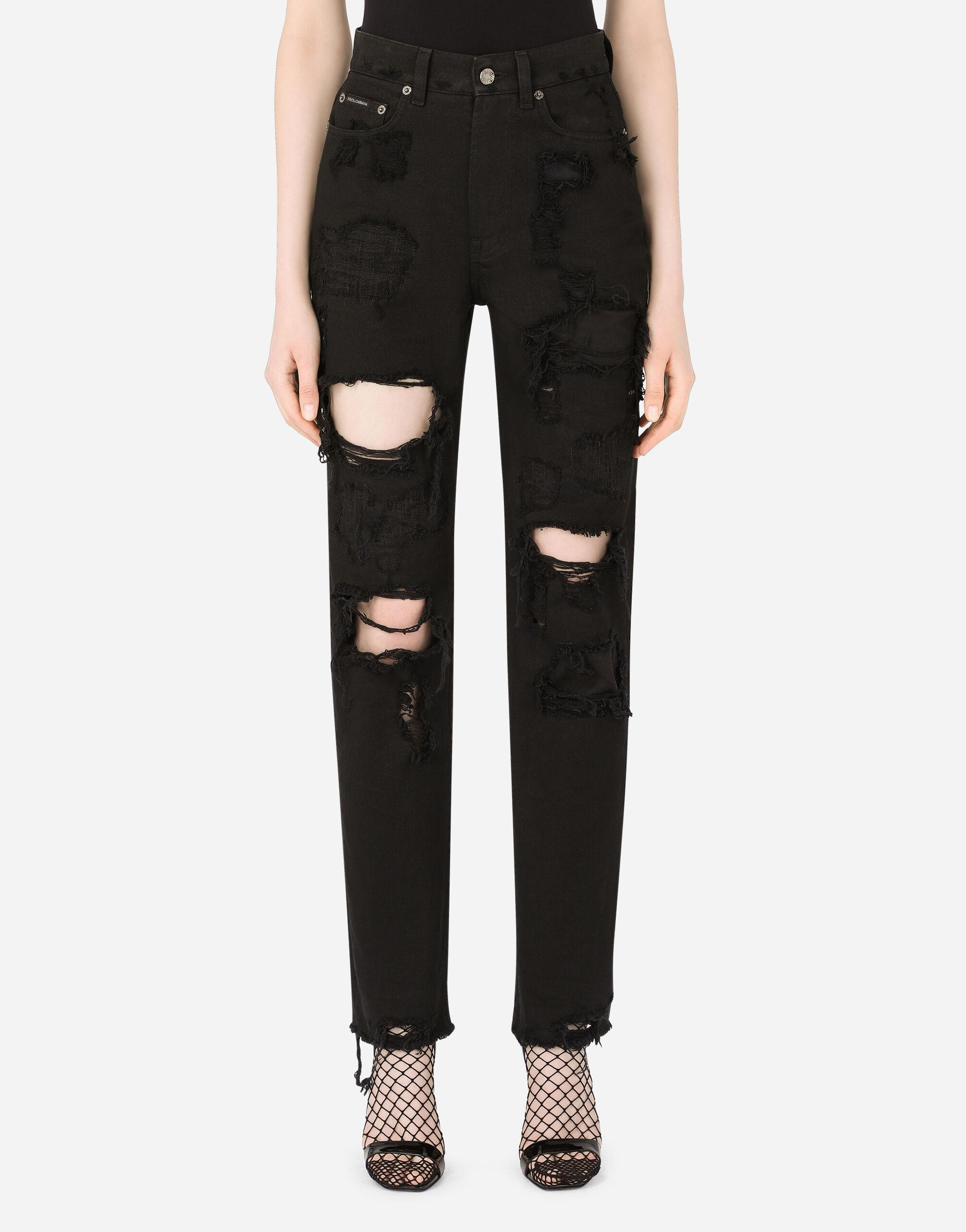 Boyfriend jeans with rips