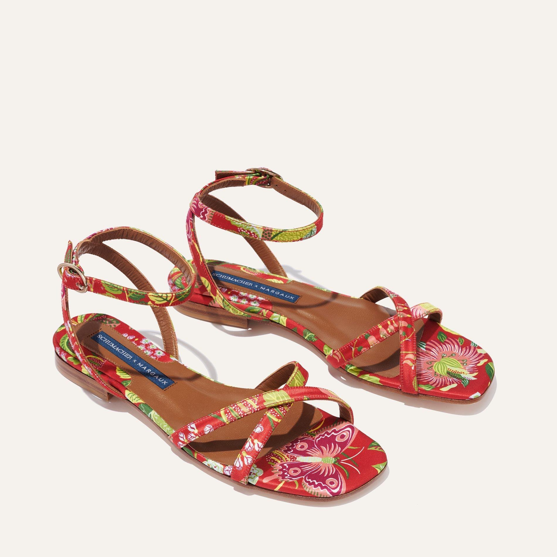 Schumacher x Margaux - The Flat Sandal in Exotic Butterfly 1
