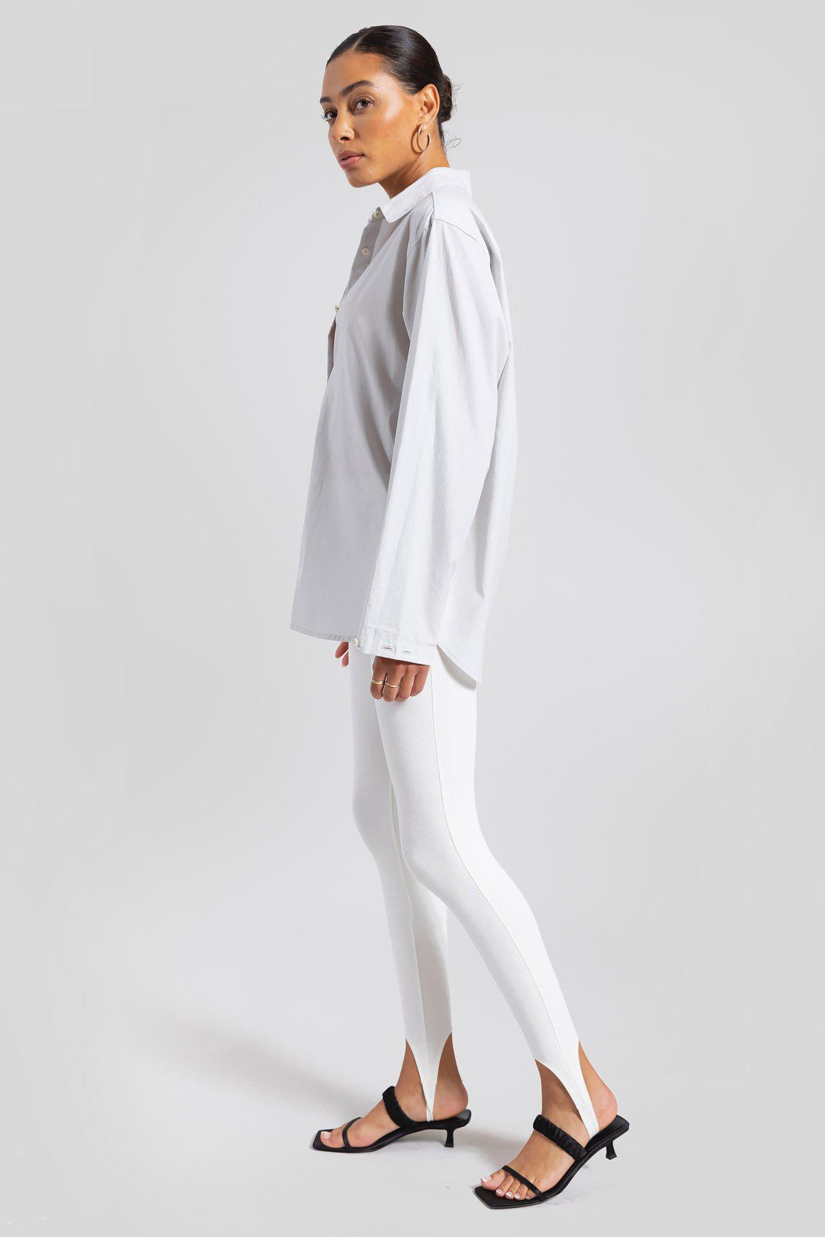 Elle Oversized Button Down - Pearl 3