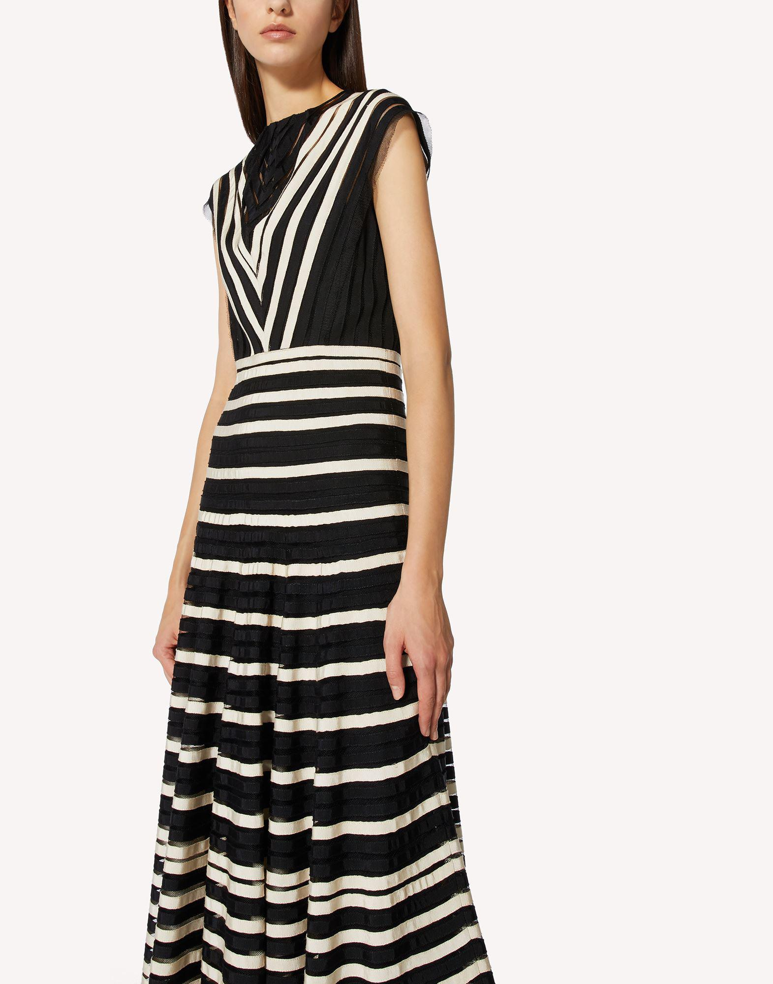 POINT D'ESPRIT TULLE DRESS WITH GROSGRAIN RIBBONS 3
