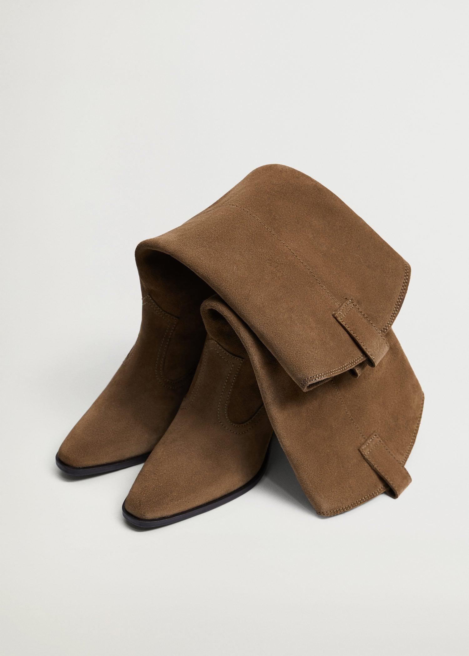Leather boots with tall leg 3