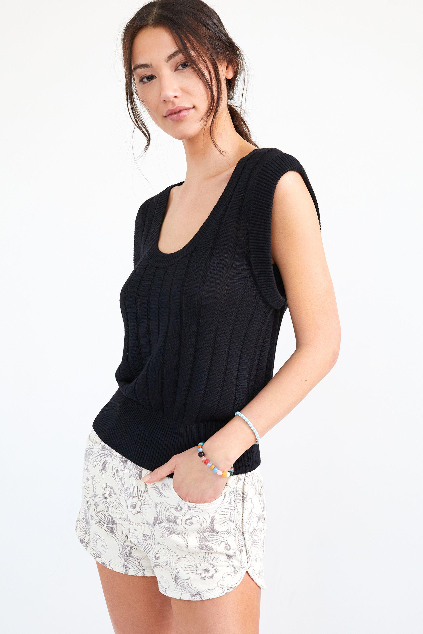 Maeve Banded Knit Tank