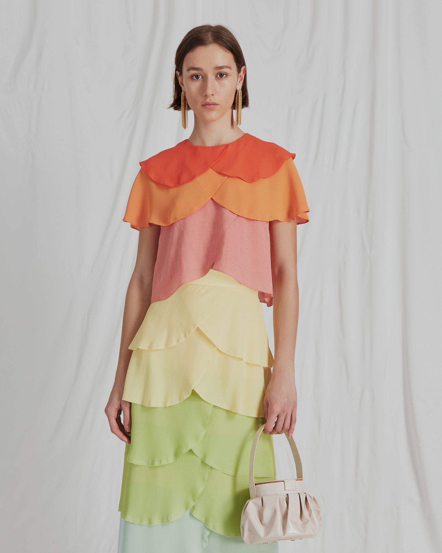 Jude Blouse Crepe Ombre Mix - SPECIAL PRICE 0