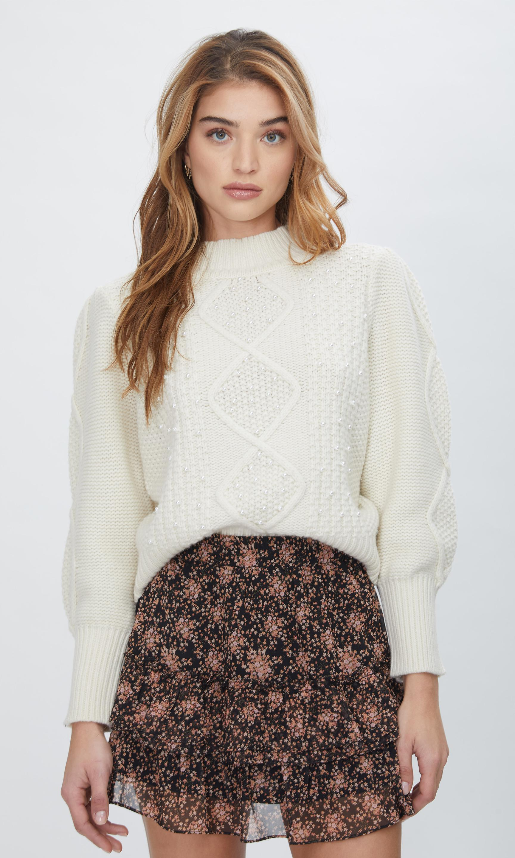 Aspen Pearl Cable Sweater 0