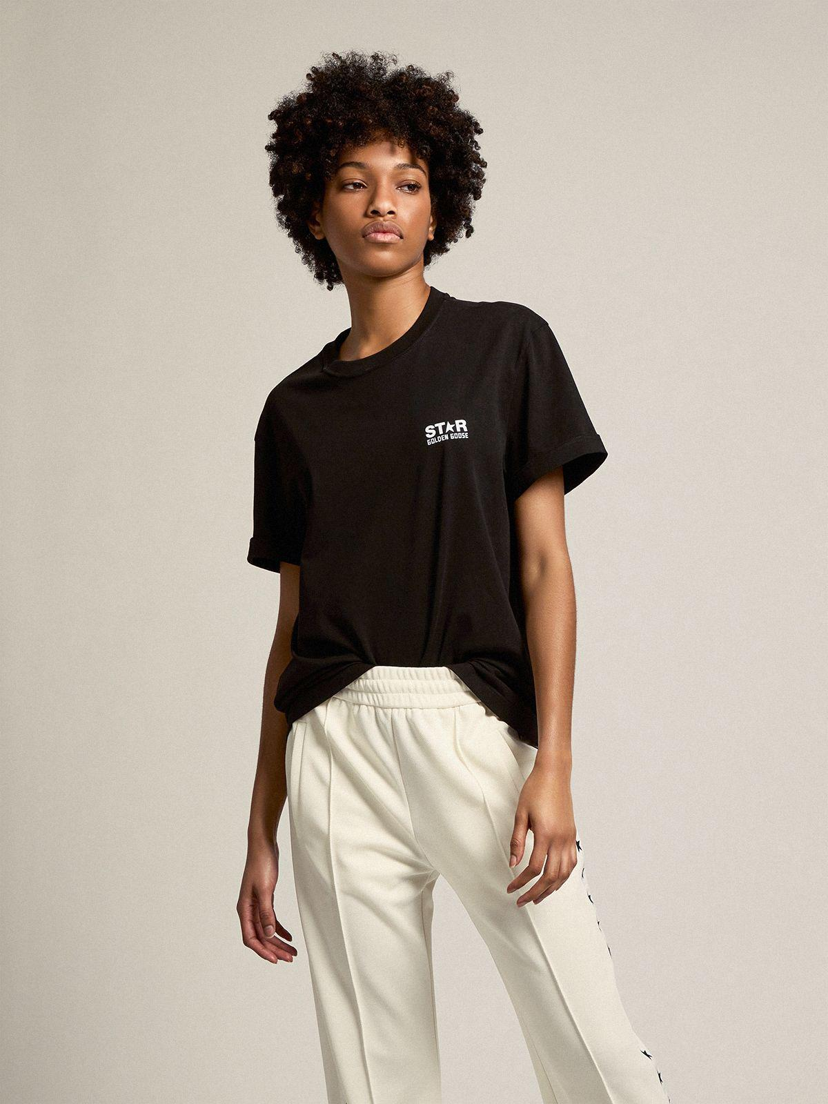 Black Star Collection T-shirt with contrasting white logo and star