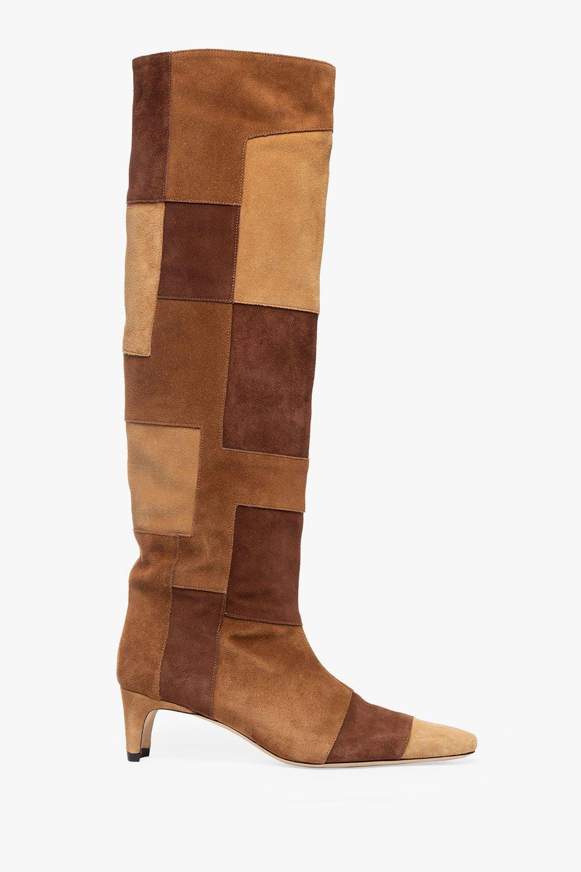 WALLY BOOT | TAN PATCHWORK