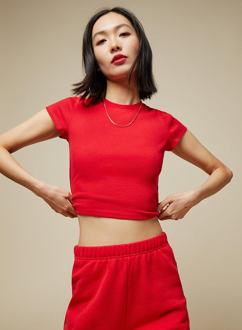 Ribbed Cropped T-Shirt 2
