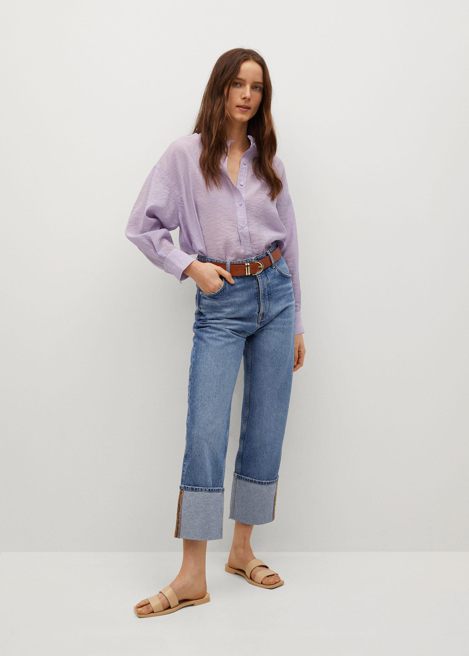 Textured flowy blouse 1