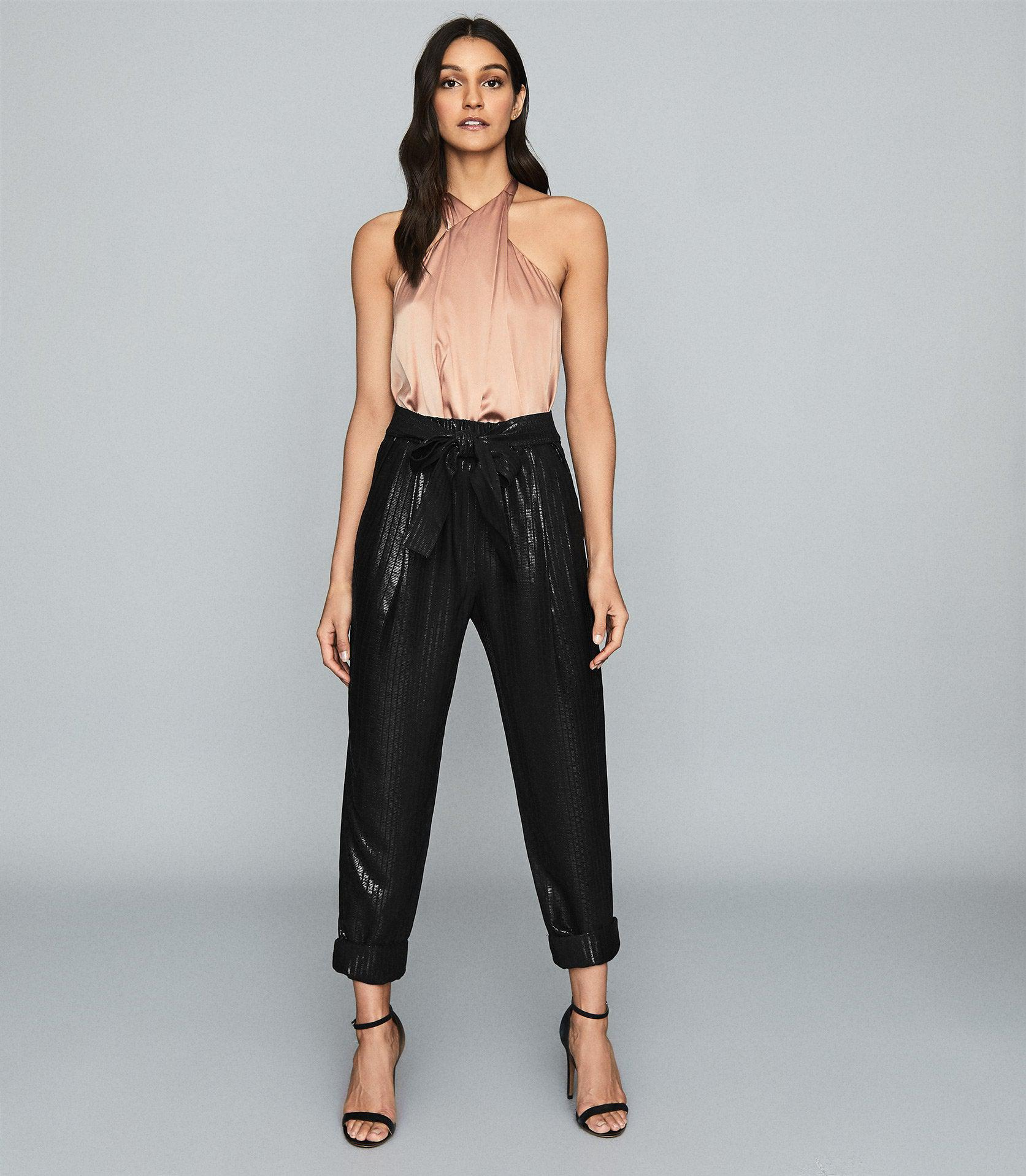 PENNIE - TAPERED SHIMMER TROUSERS