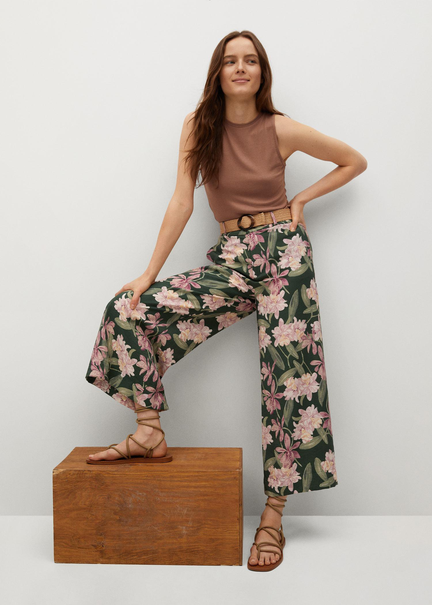 Printed culotte trousers 4