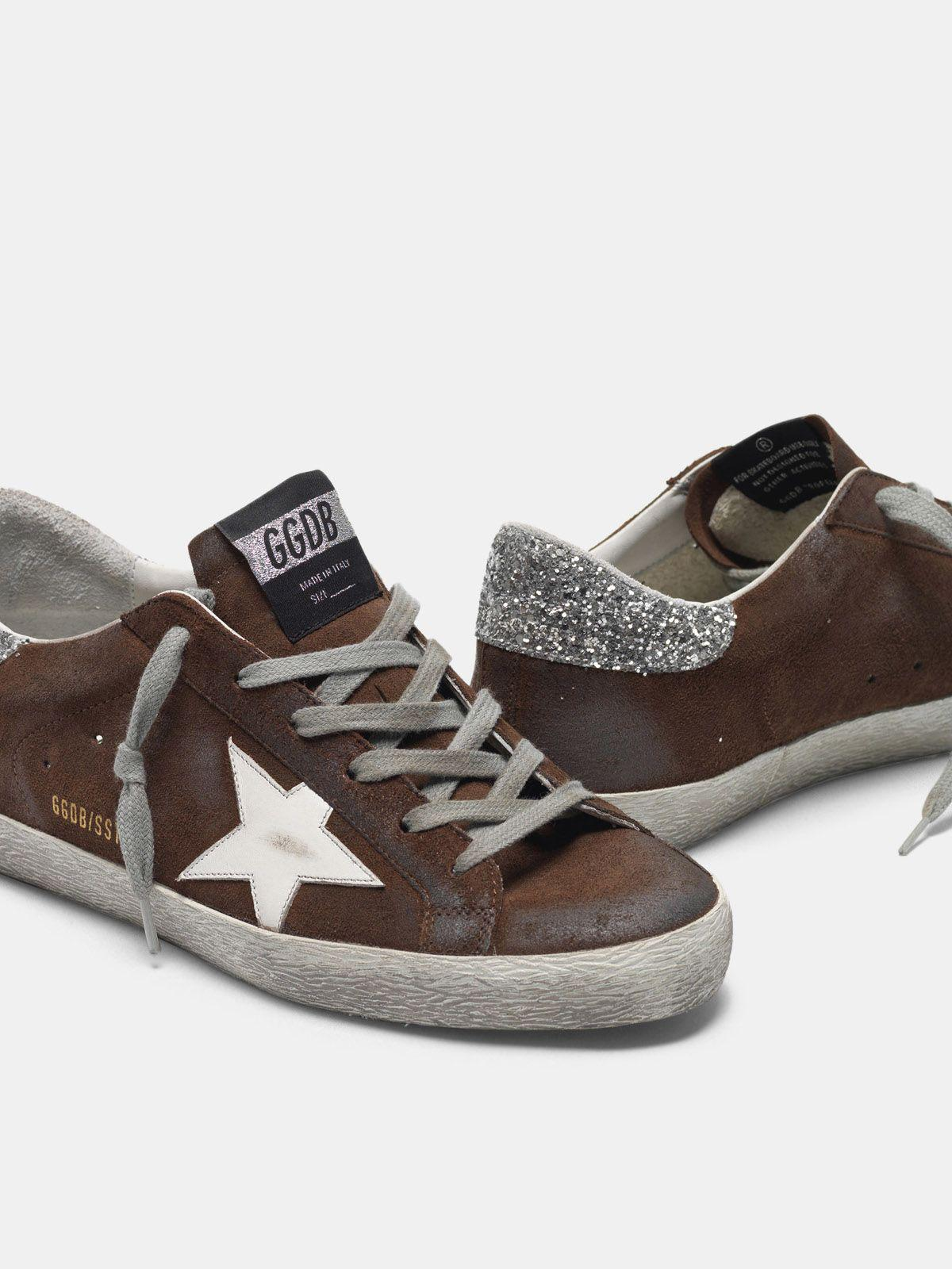 Suede Super-Star sneakers with glittery heel tab 3
