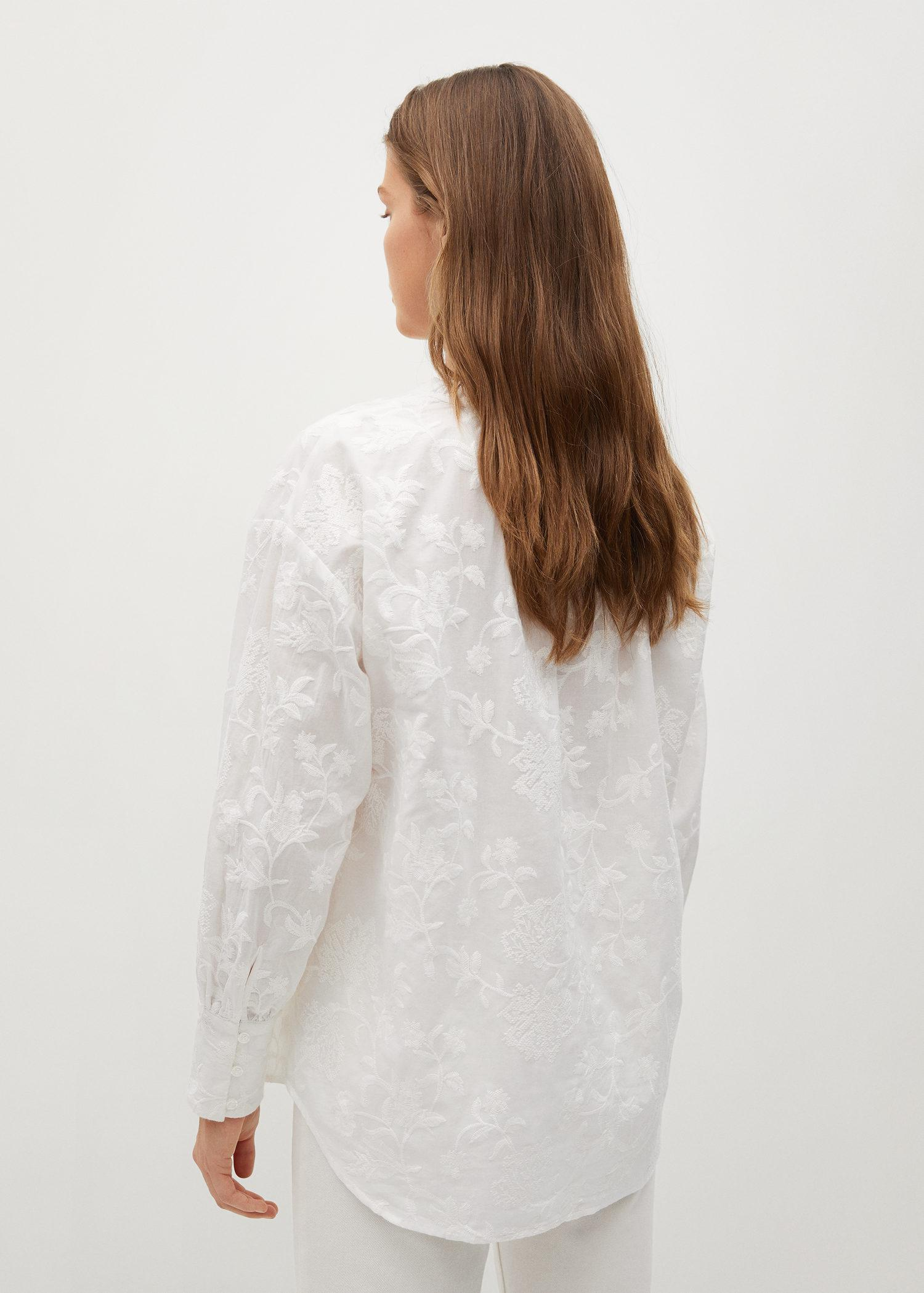 Embroidered cotton blouse 2