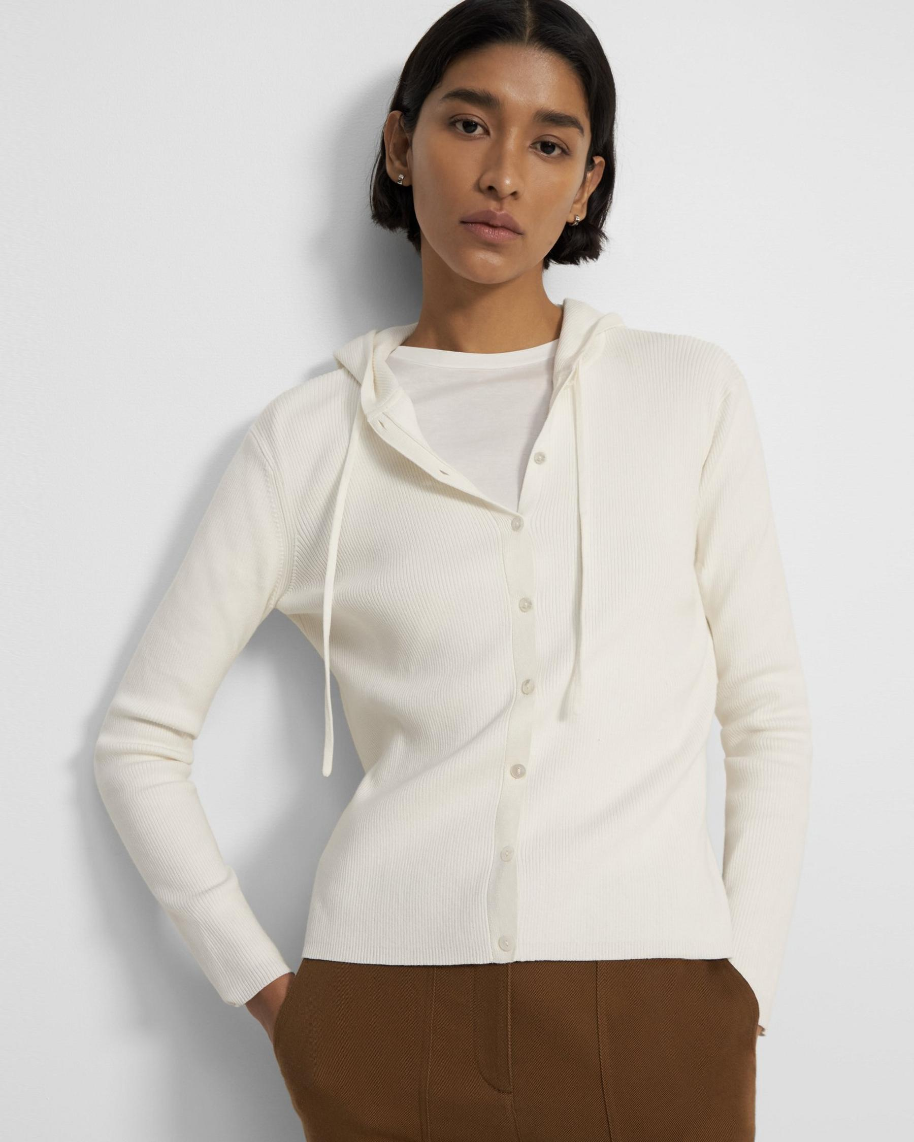 Hooded Cardigan in Cotton