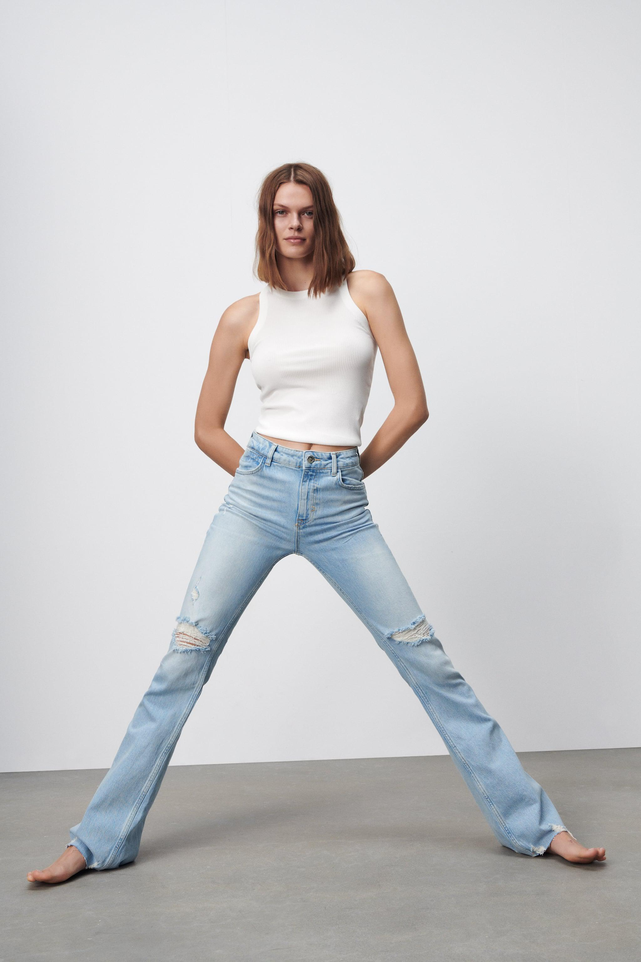 Z1975 RIPPED FLARE JEANS