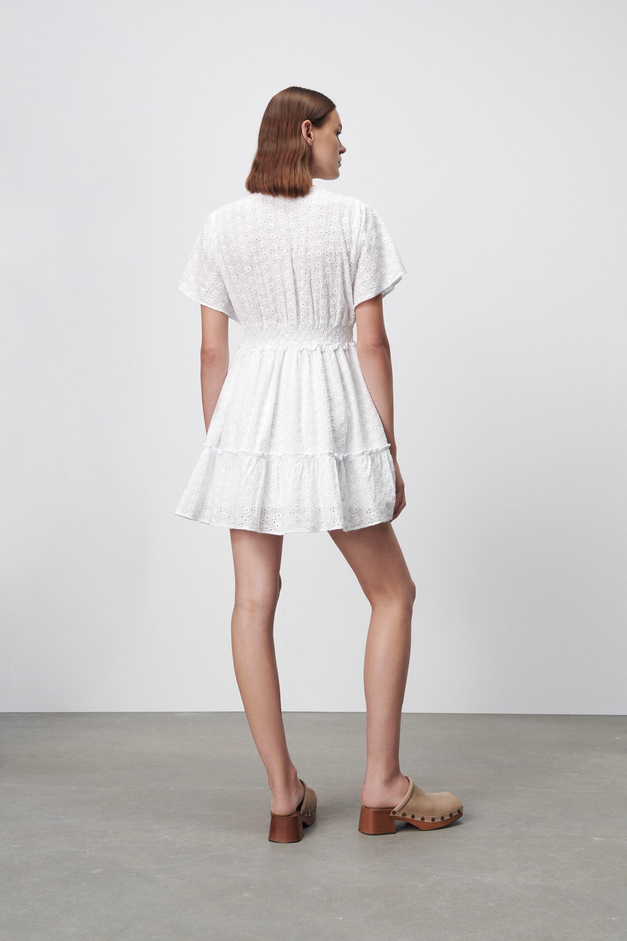 SHORT DRESS WITH OPENWORK EMBROIDERY 3