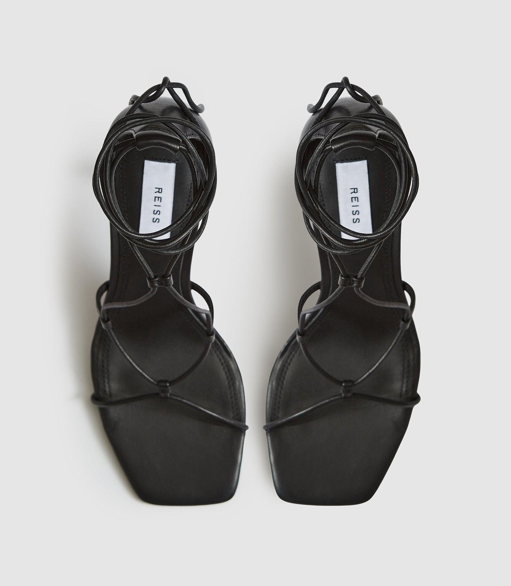 KALI - LEATHER STRAPPY WRAP SANDALS 1