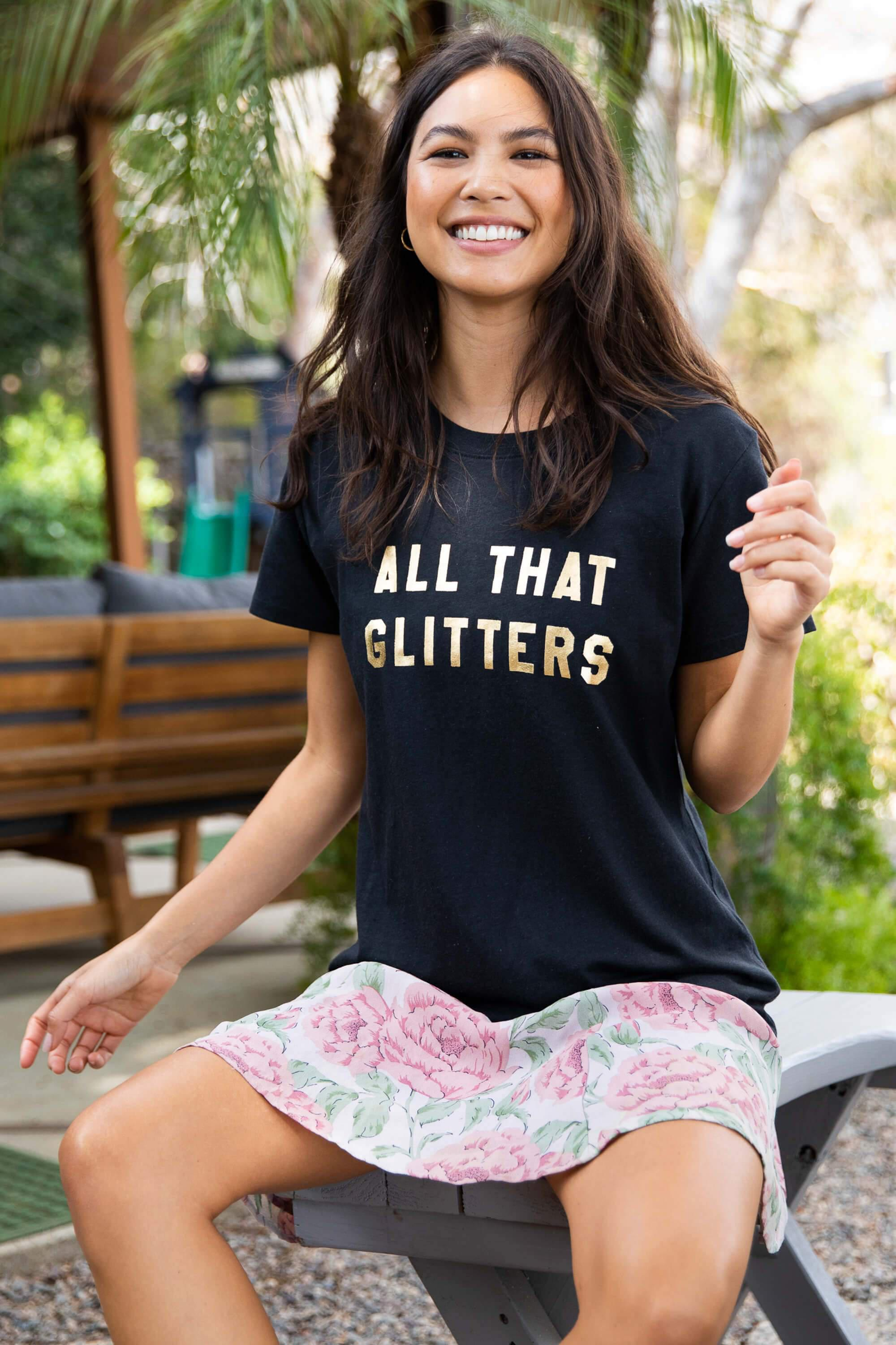 ALL THAT GLITTERS LOOSE TEE